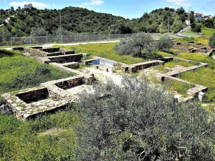 The remains of Vila Romana da Montinho das Larajeiras, near Alcoutim