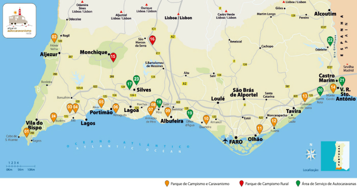 Algarve Camping and Caravan sites