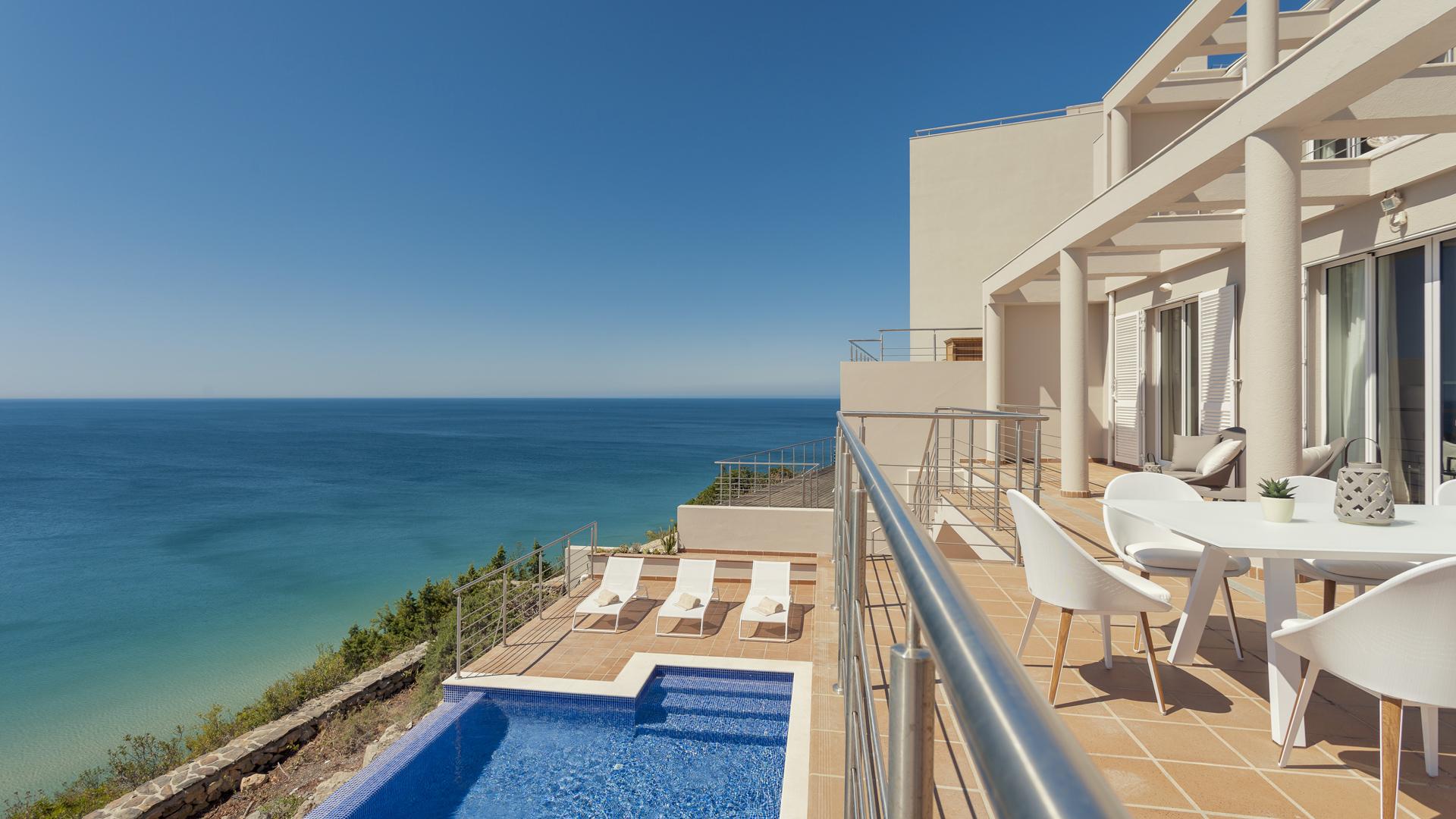 Mar à Vista terrasse et piscine