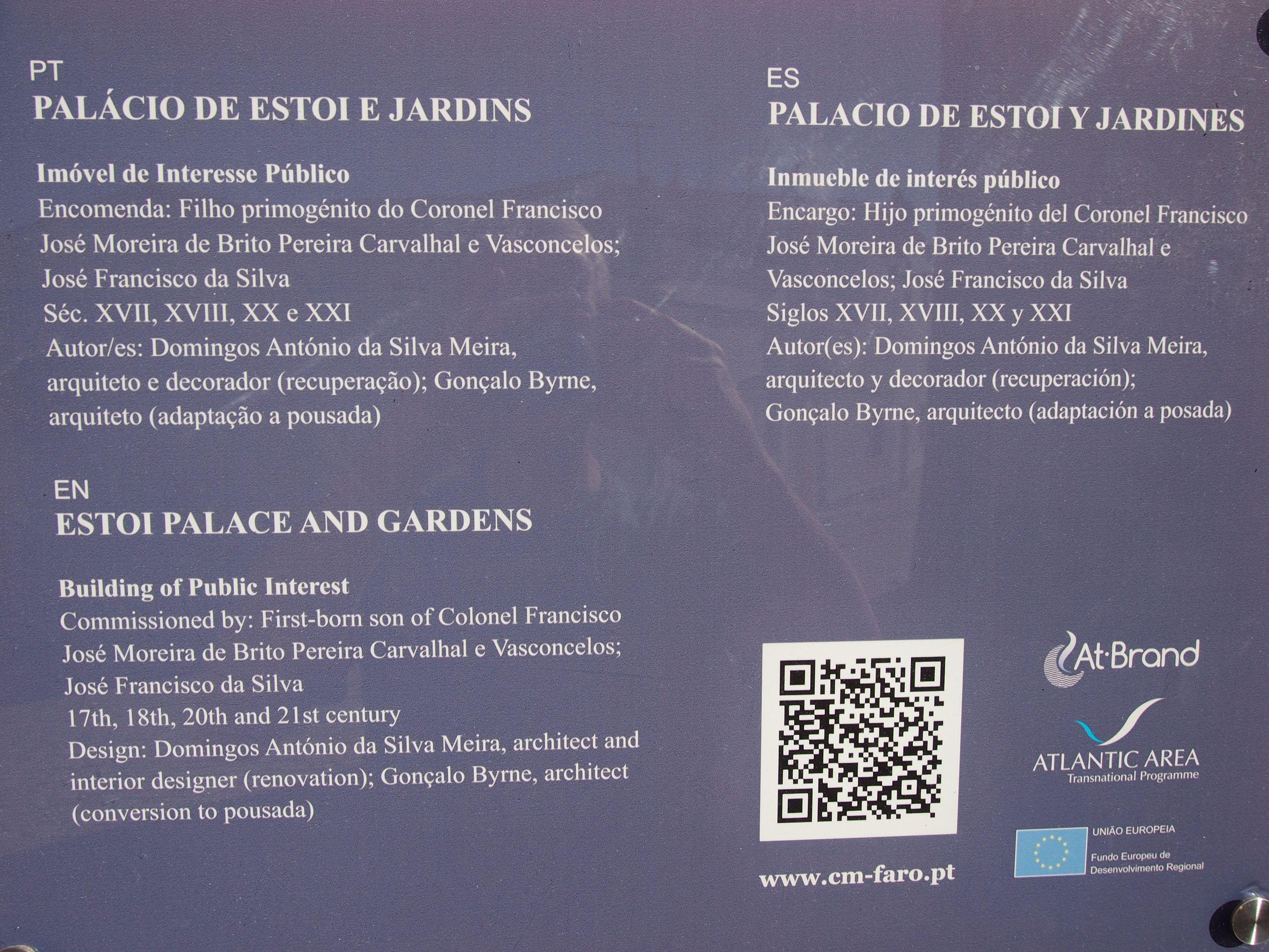 Estoi Palace - historical facts