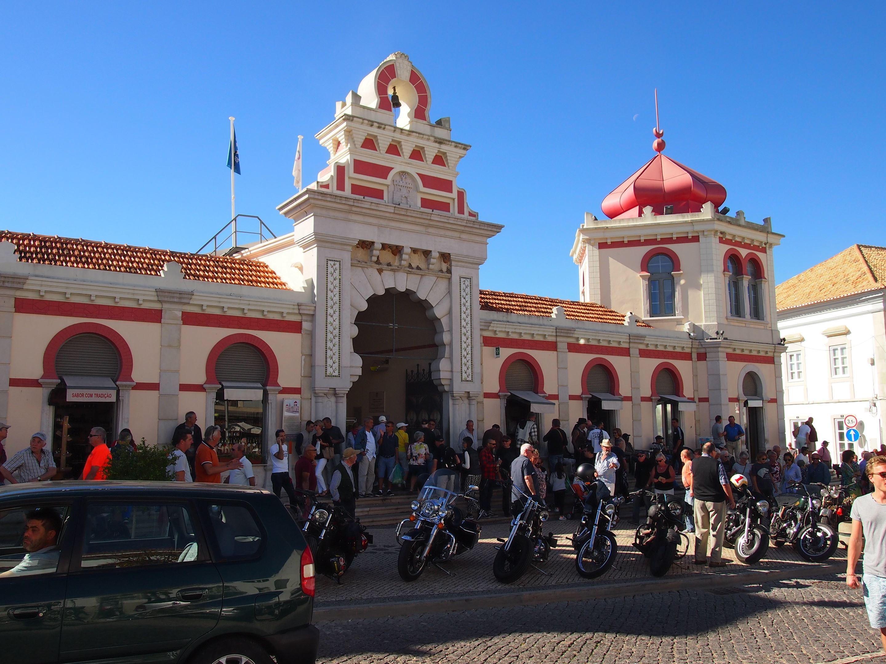 Mercado Municipal de Loulé (Loulé Market), Algarve - Harley Davidson meeting