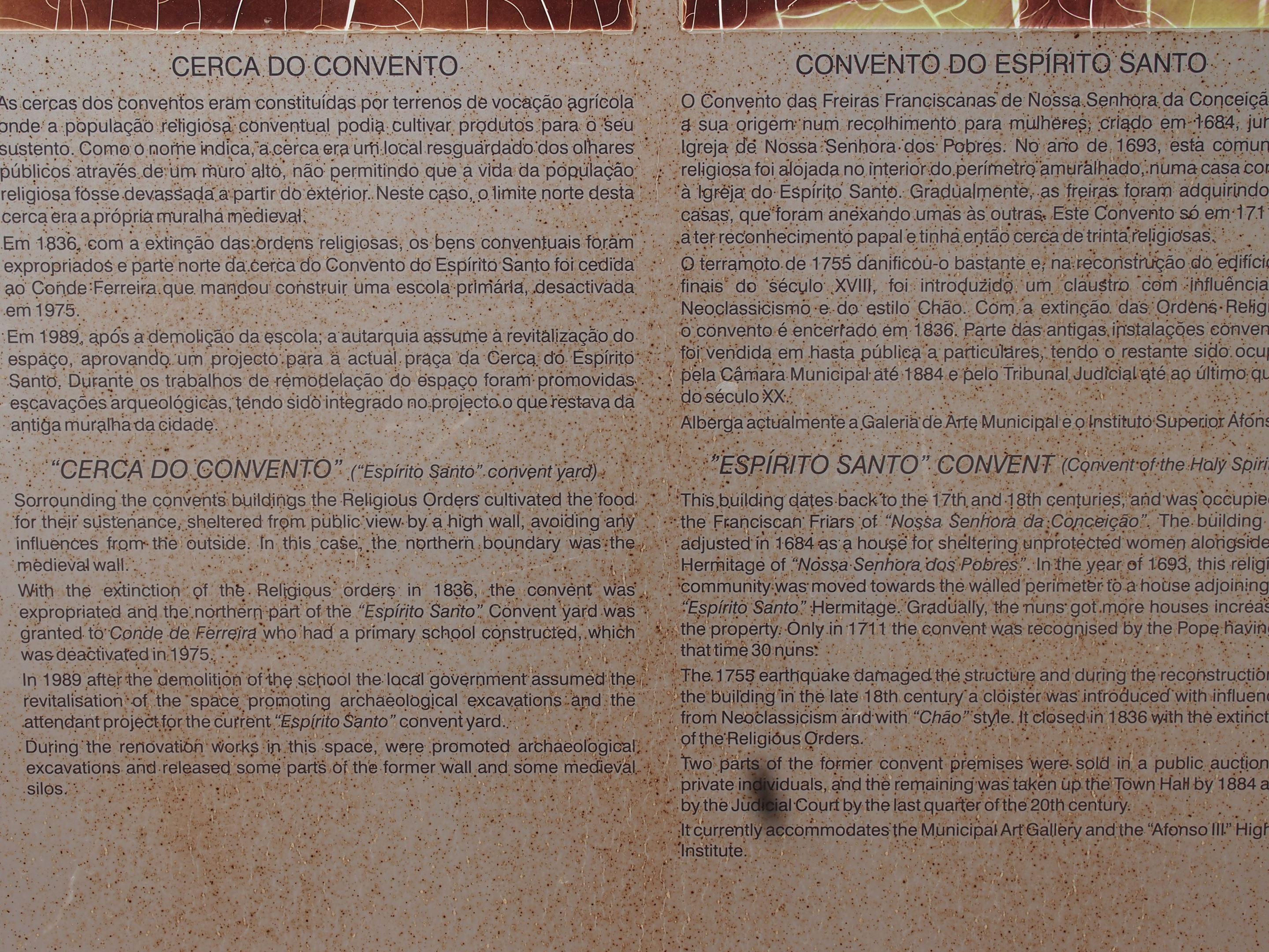 Convento Espírito Santo, Loulé, Algarve - fatos históricos