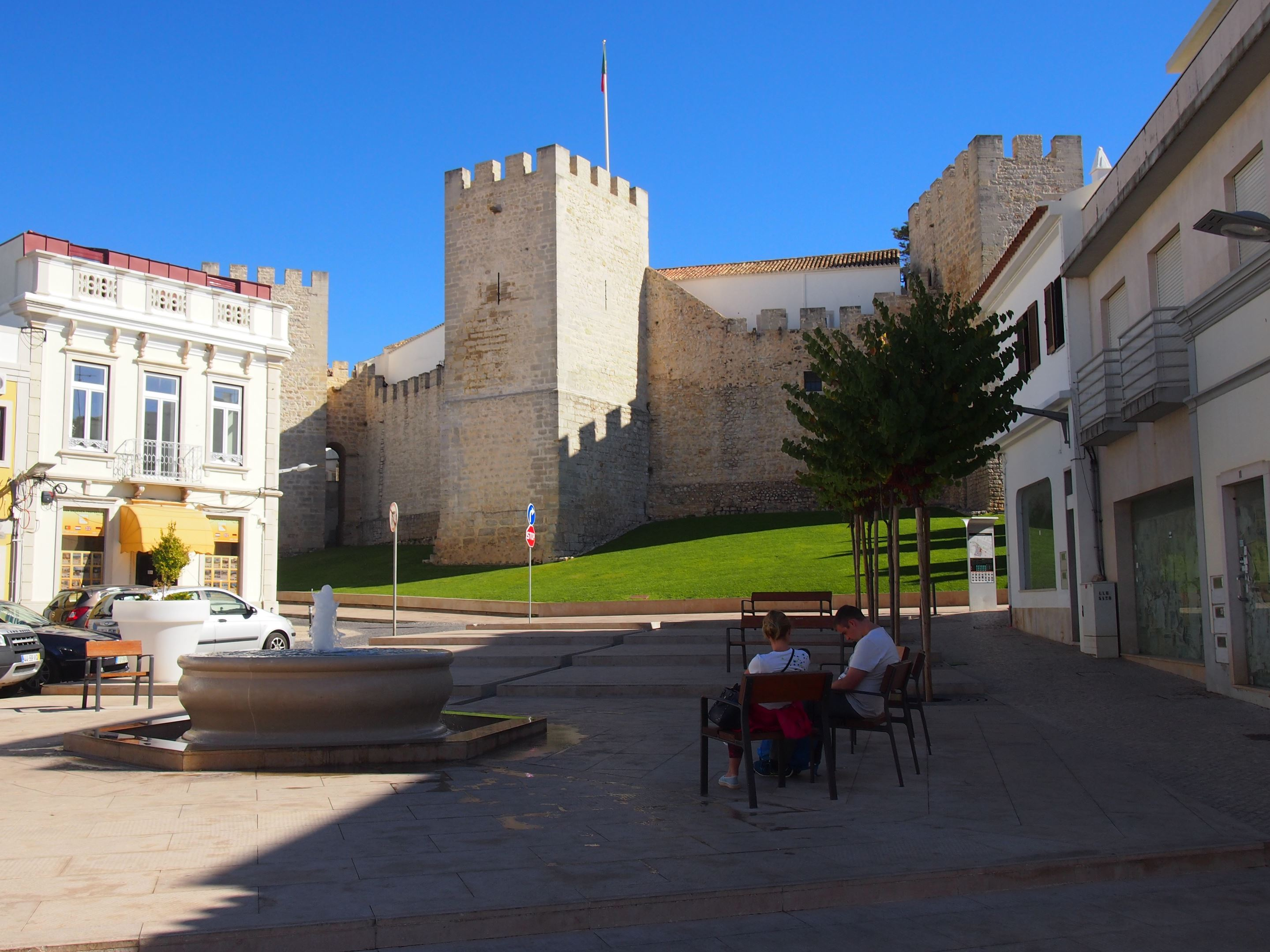 Loulé Castle, located in the old town area of Loulé