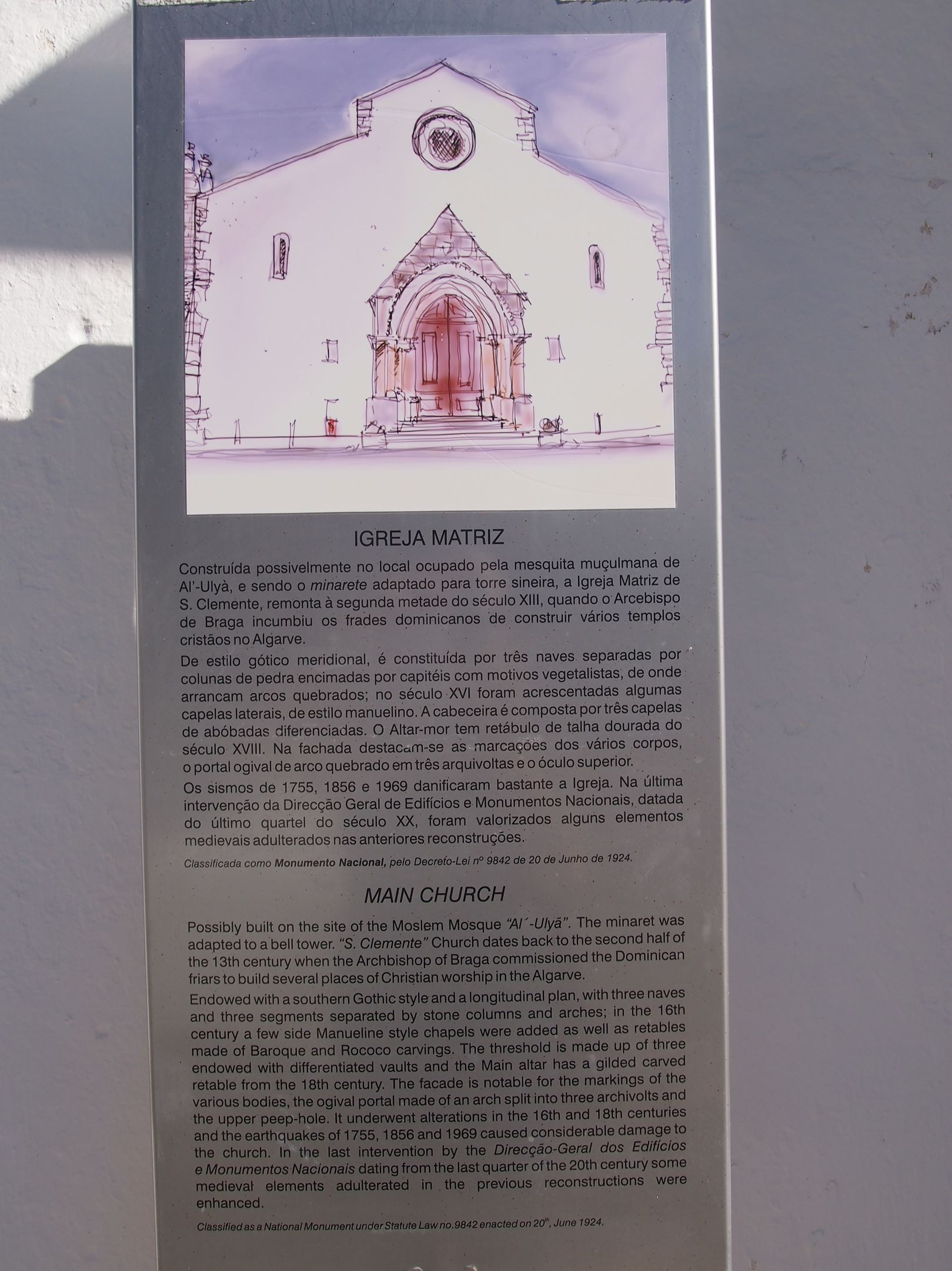 Igreja (église) de São Clemente, Loulé - faits historiques
