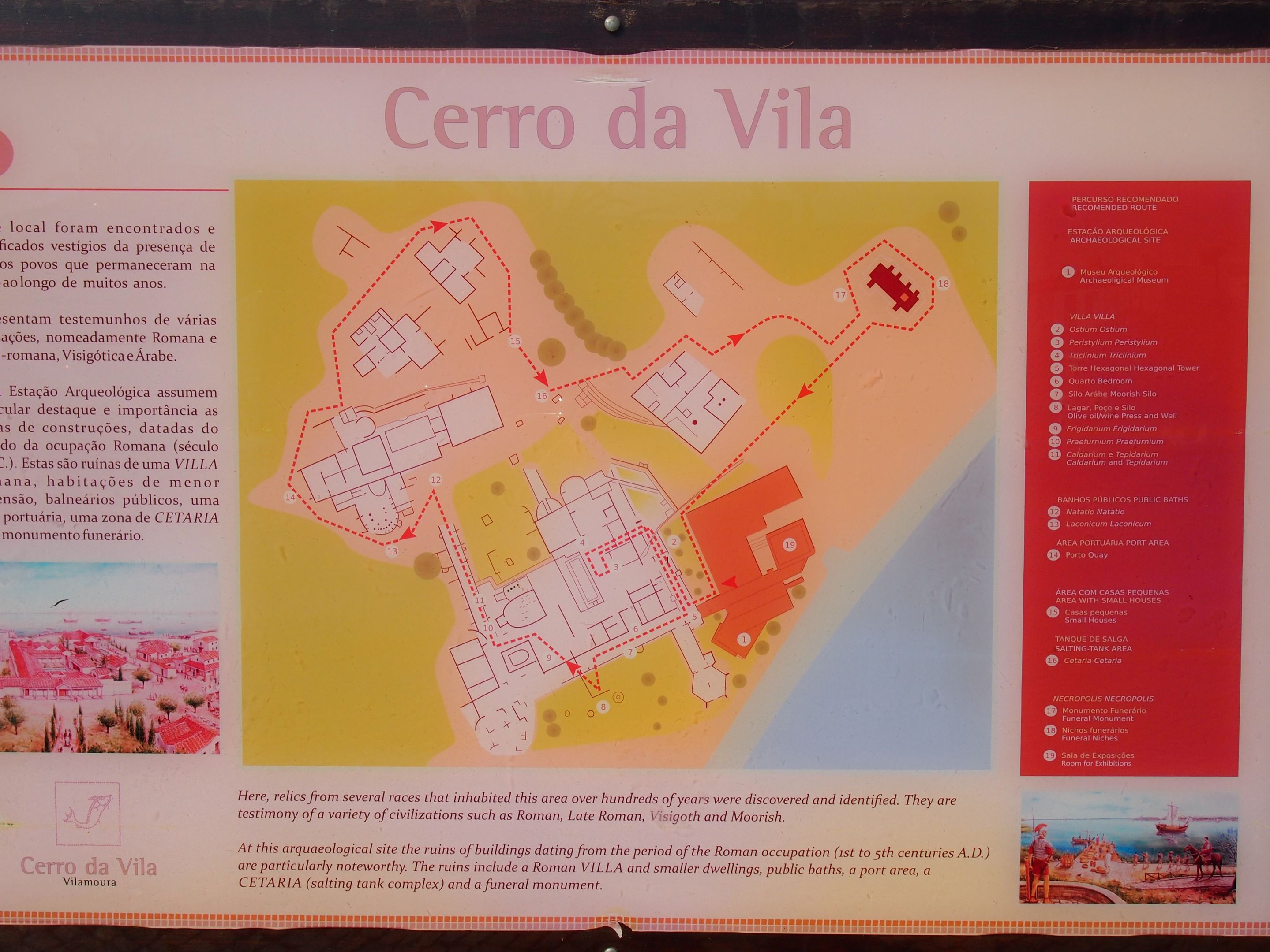 Map of Cerro da Vila ruins