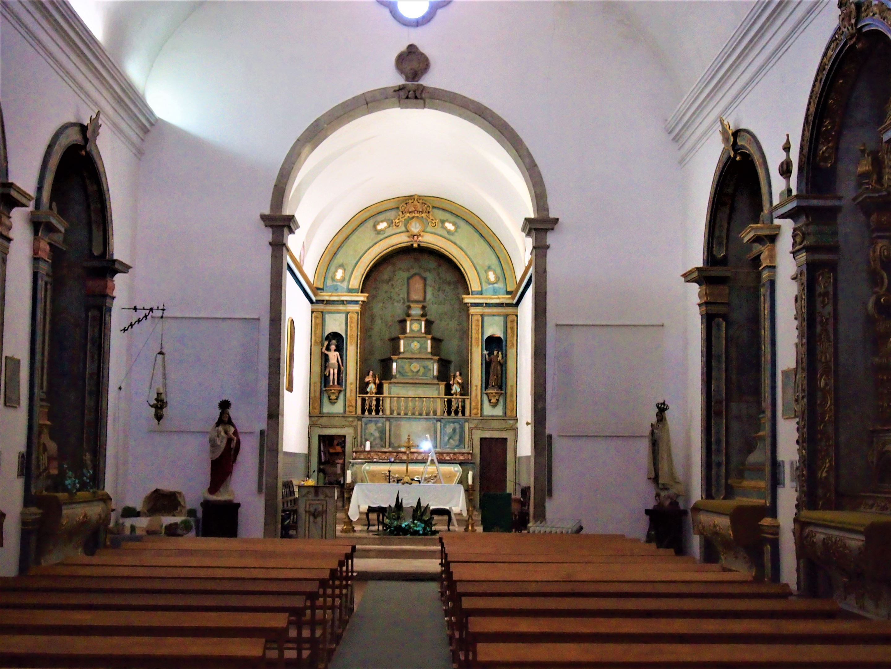 Igreja Matriz em Boliquieme - Interior da Igreja