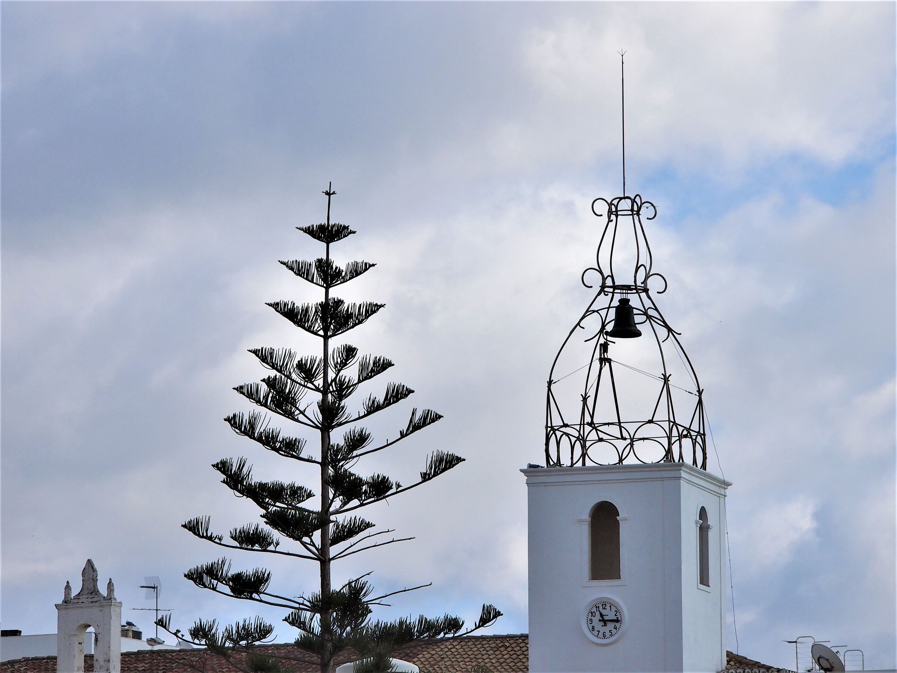 The decorative clocktower of the Archaeological​ ​Museum​, Albufeira