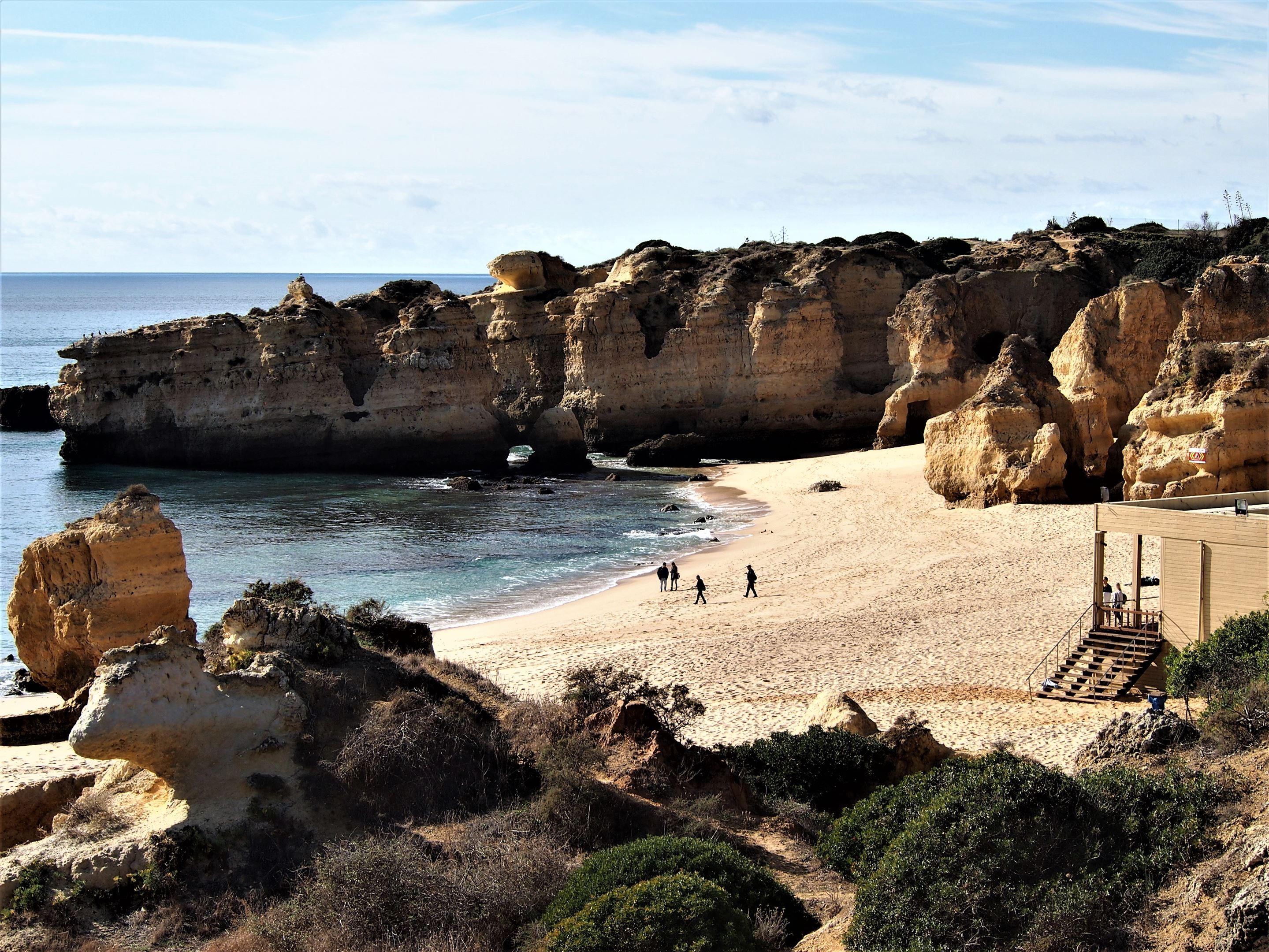 Praia de São Rafael, on the western side of Albufeira