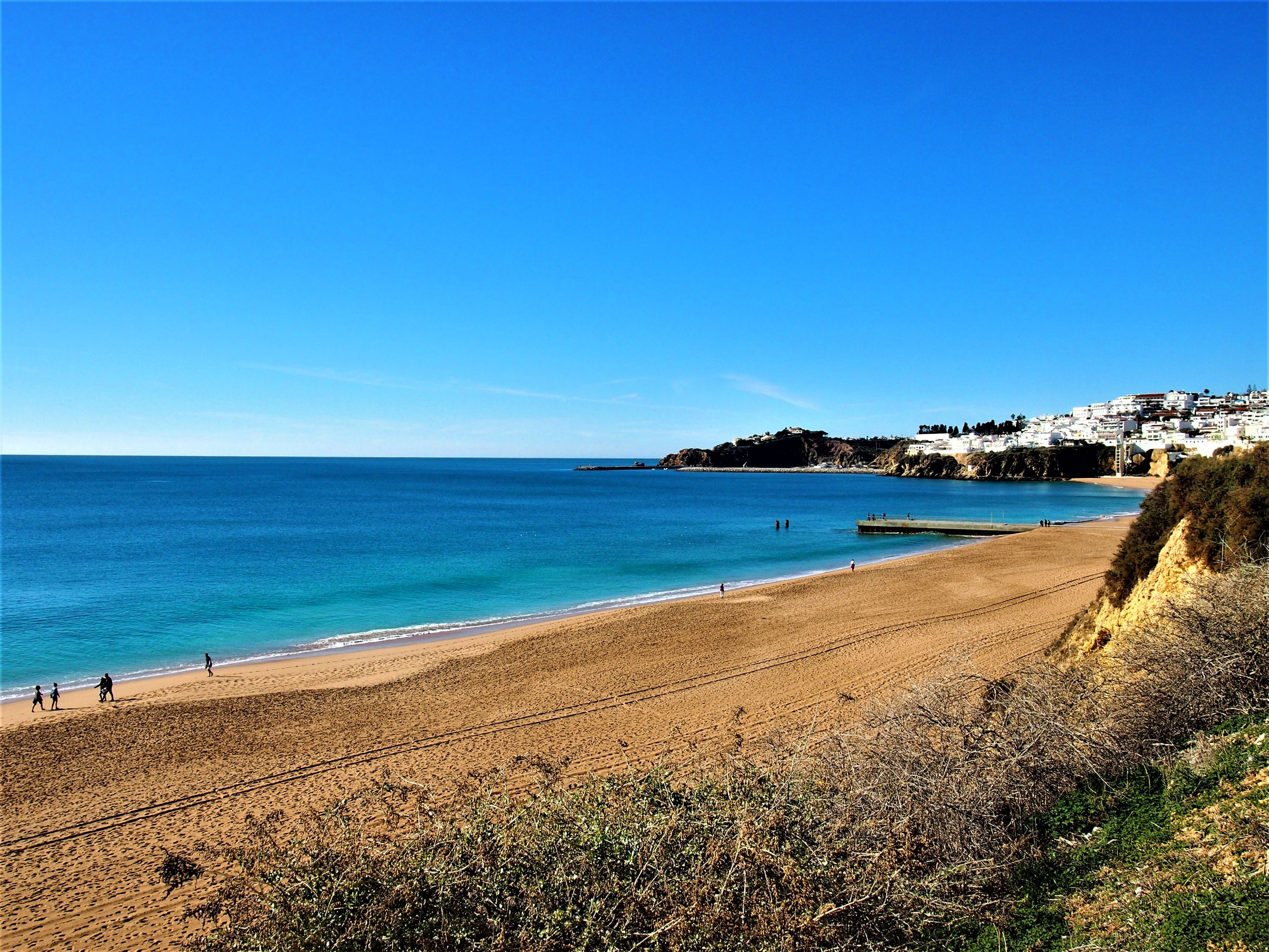 Praia do Inatel. Looking towards Praia do Pescadores in the background, Albufeira.