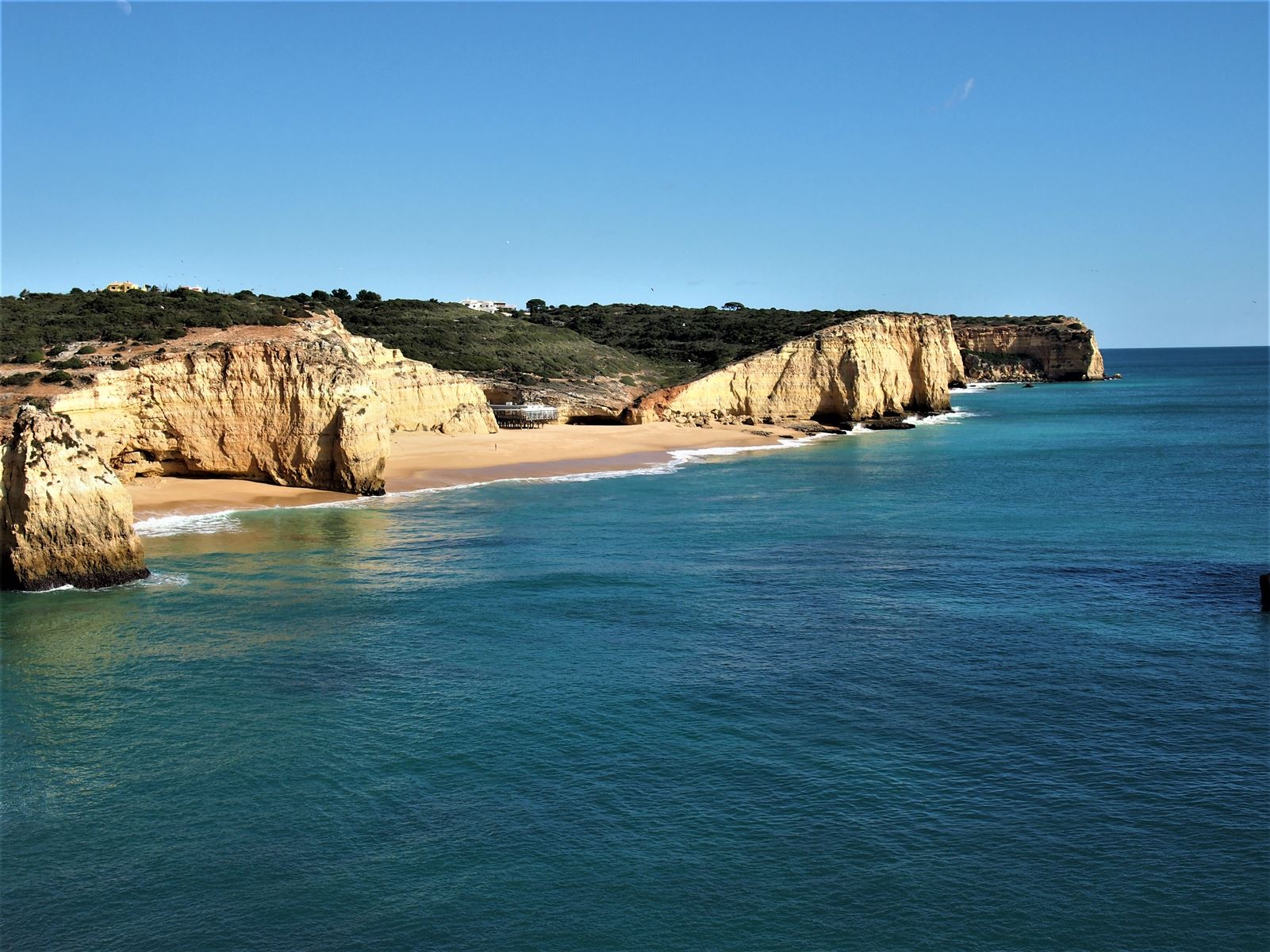 Praia dos Caneiros. Vistas desde Ponto do Altar, Ferragudo, Algarve