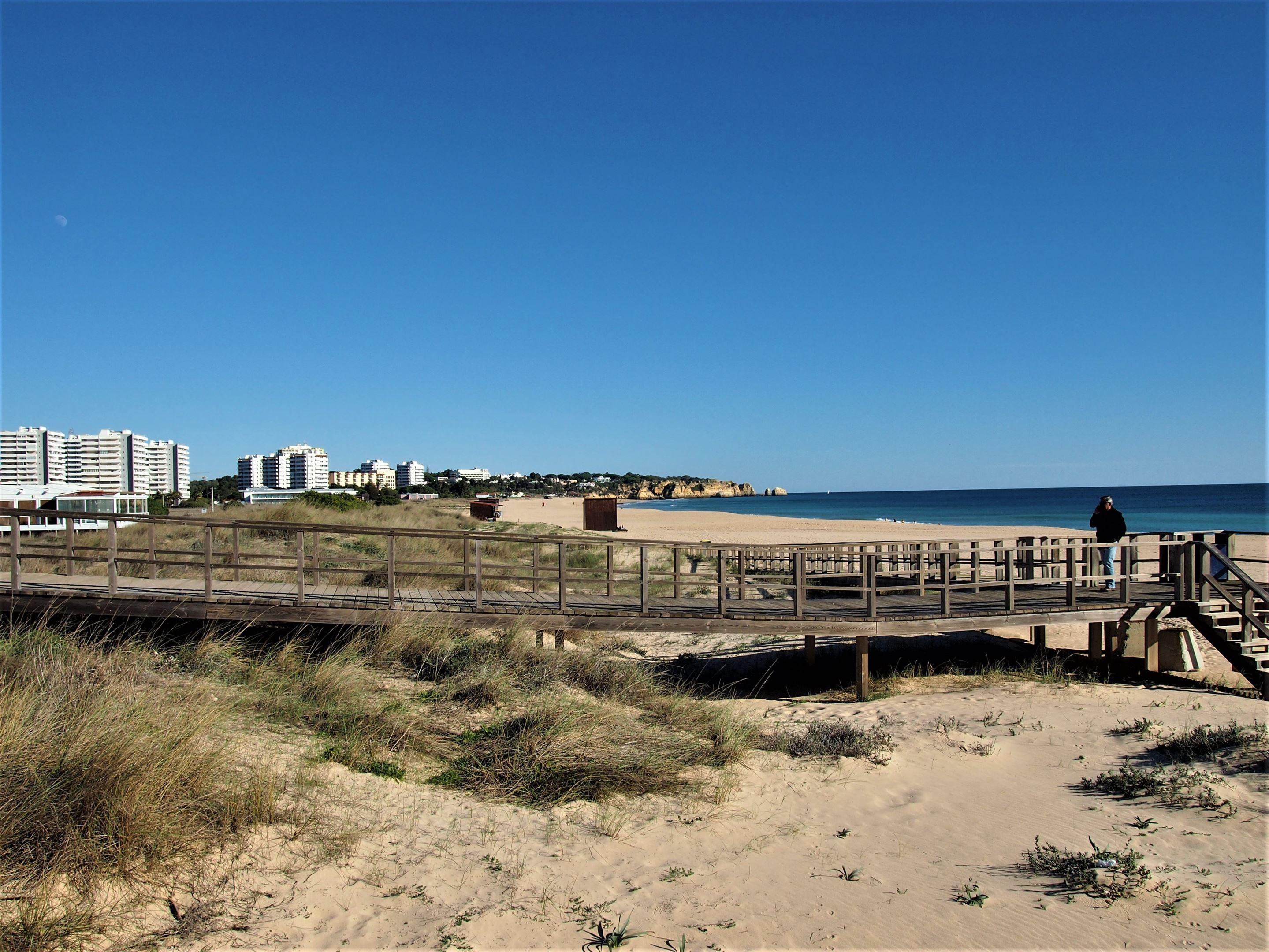 Praia de Alvor looking east towards Portimão