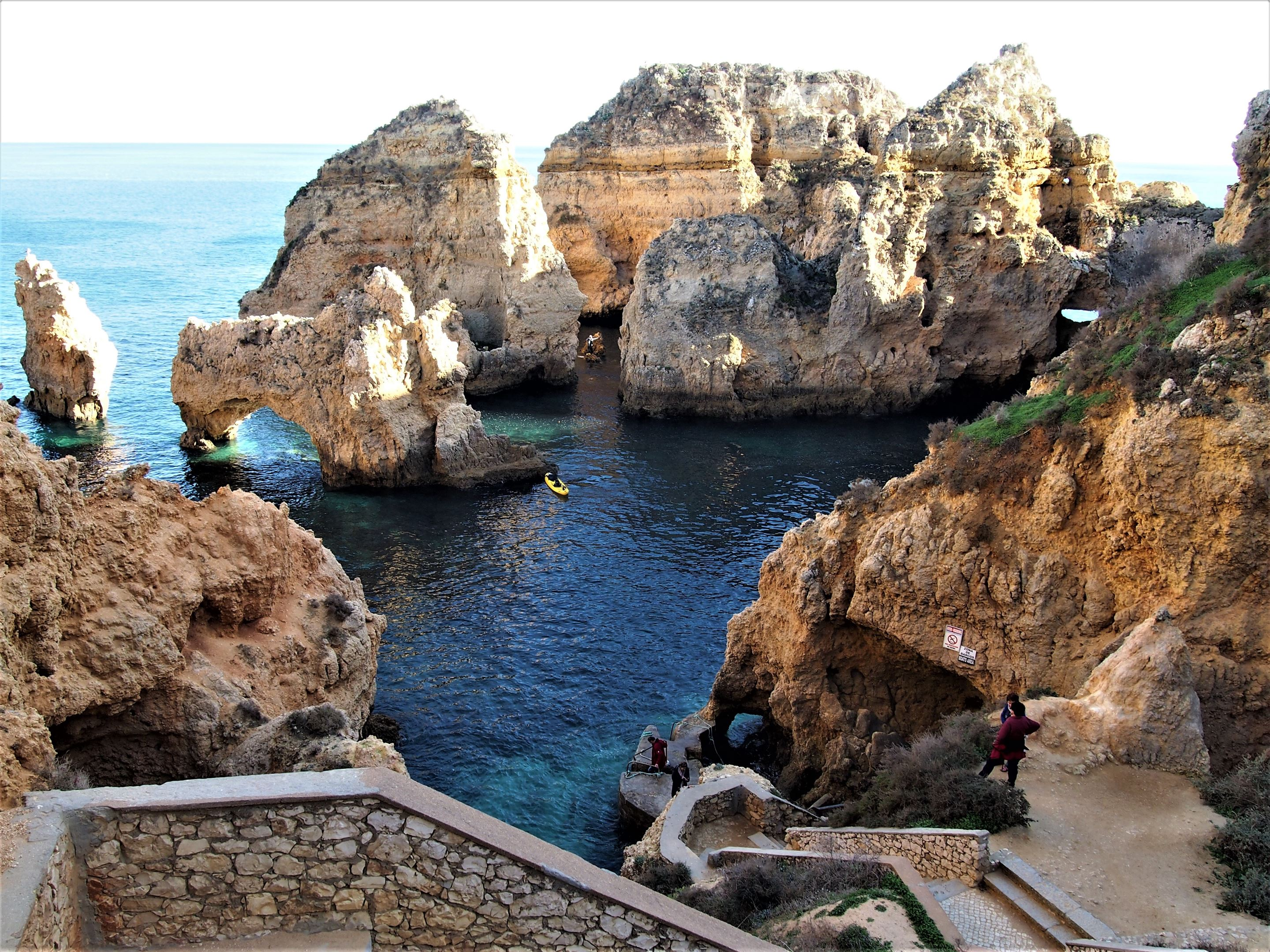 Ponta da Piedade, Lagos - a kayak is a great way to see these cliffs