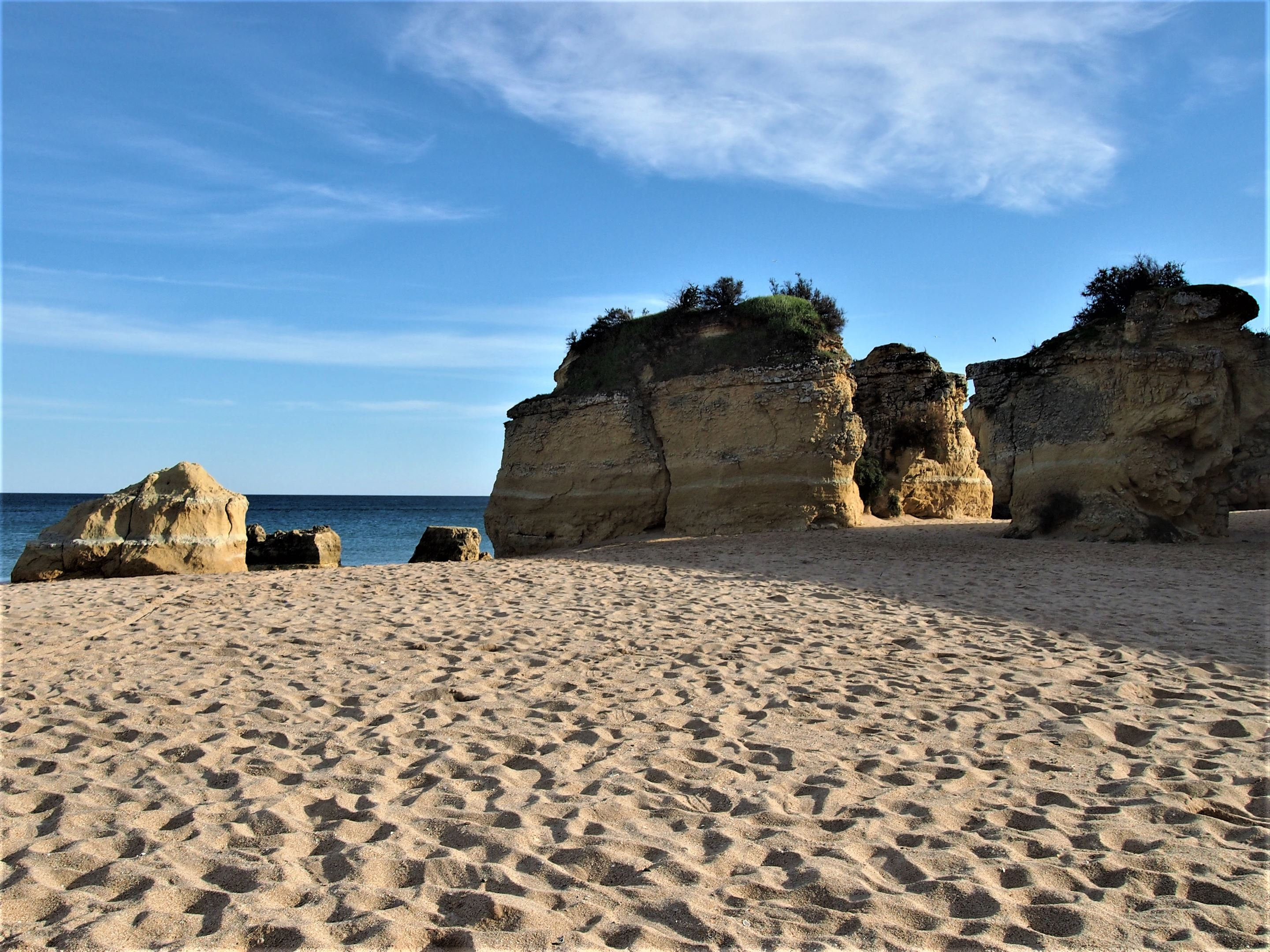 Praia da Batata, the nearest beach from the centre of Lagos
