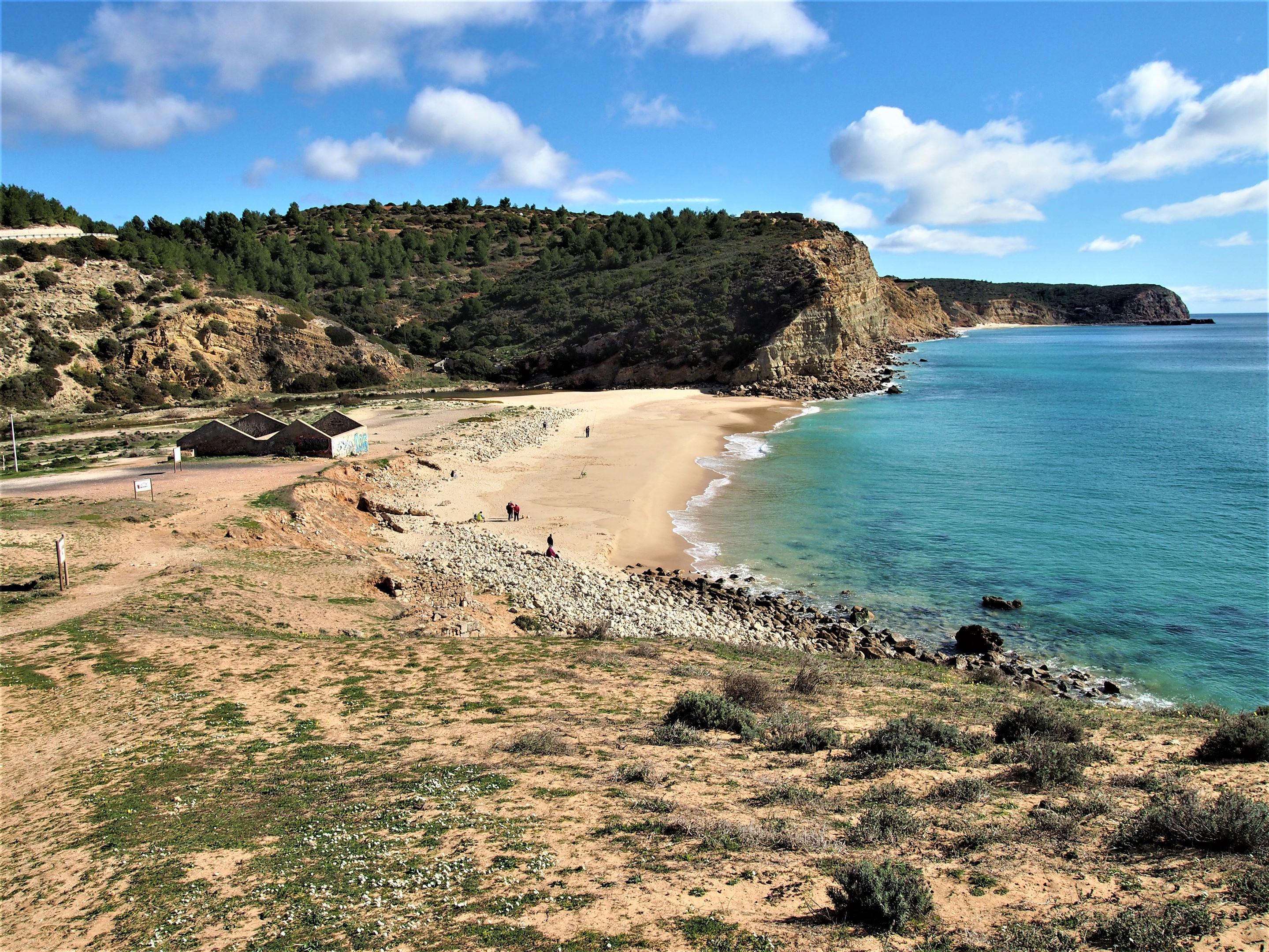 The coastline at Praia Boco do Rio, in the Costa Vicentina national park, Algarve