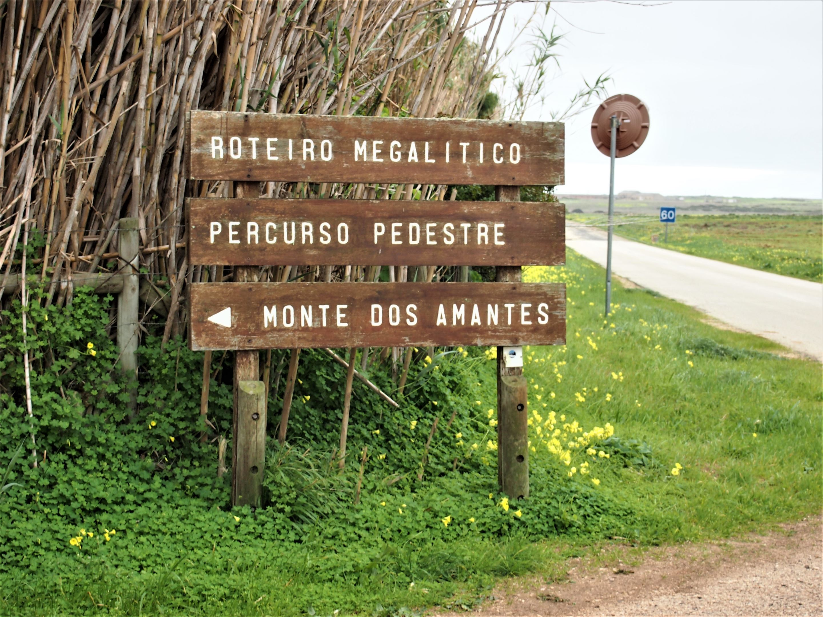 The entrance to Monte dos Amantes, a megalithic site in Vila do Bispo, west Algarve