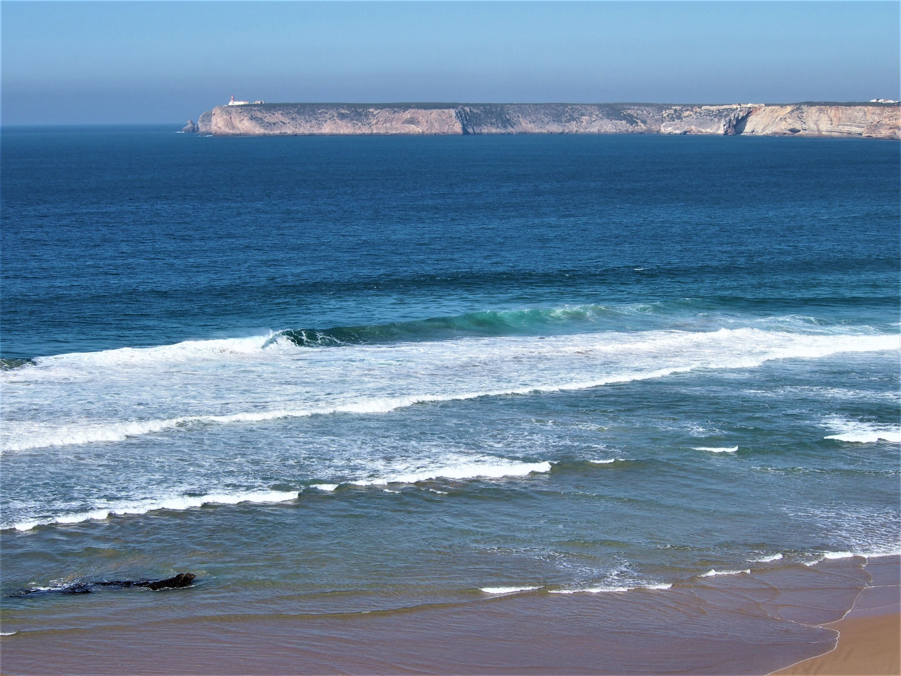 The Cabo São Vicente in the far distance from Sagres