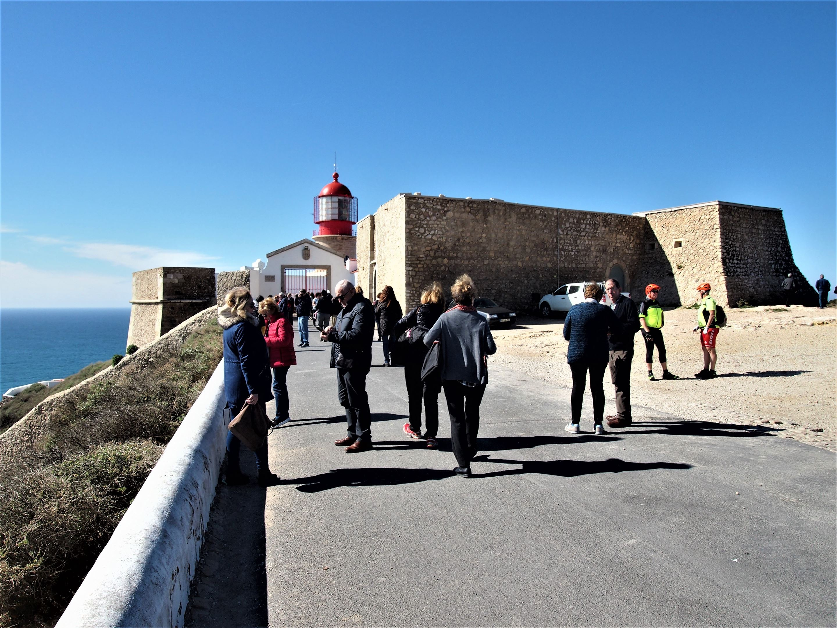 At the entrance to Cabo São Vicente, Sagres