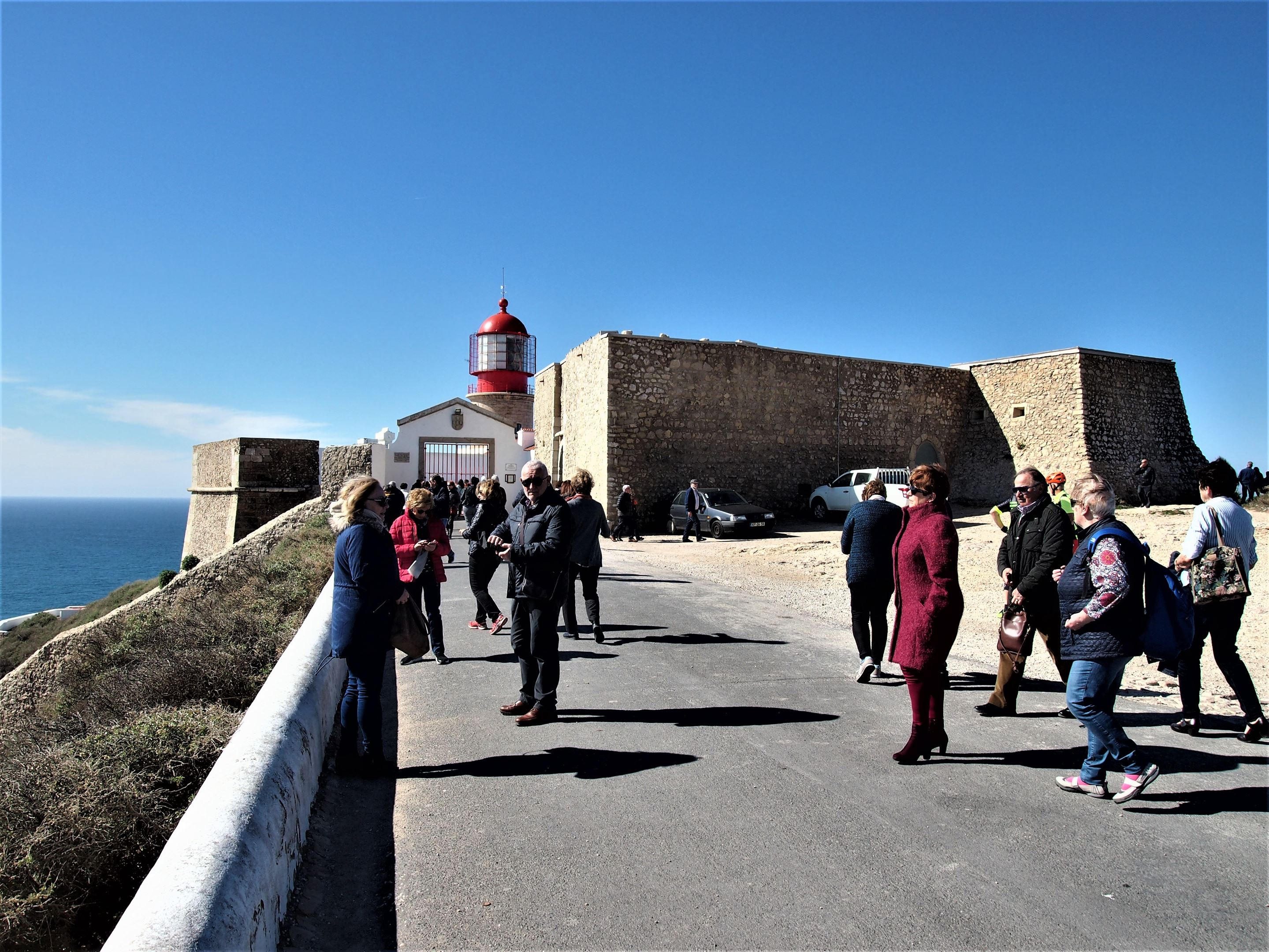 At the entrance to Cabo de São Vicente, Sagres