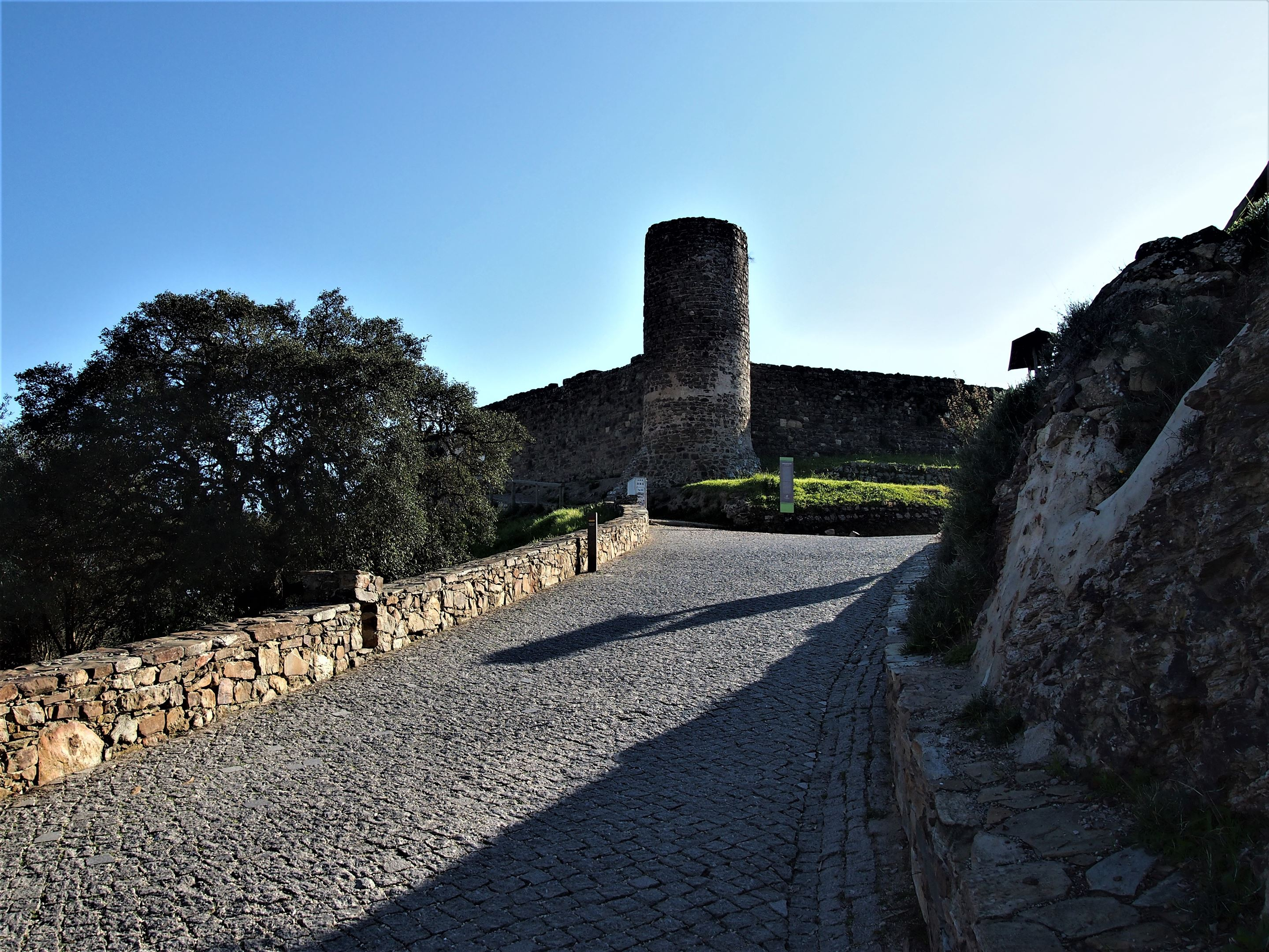 Approaching the remains of Aljezur Castle, Algarve