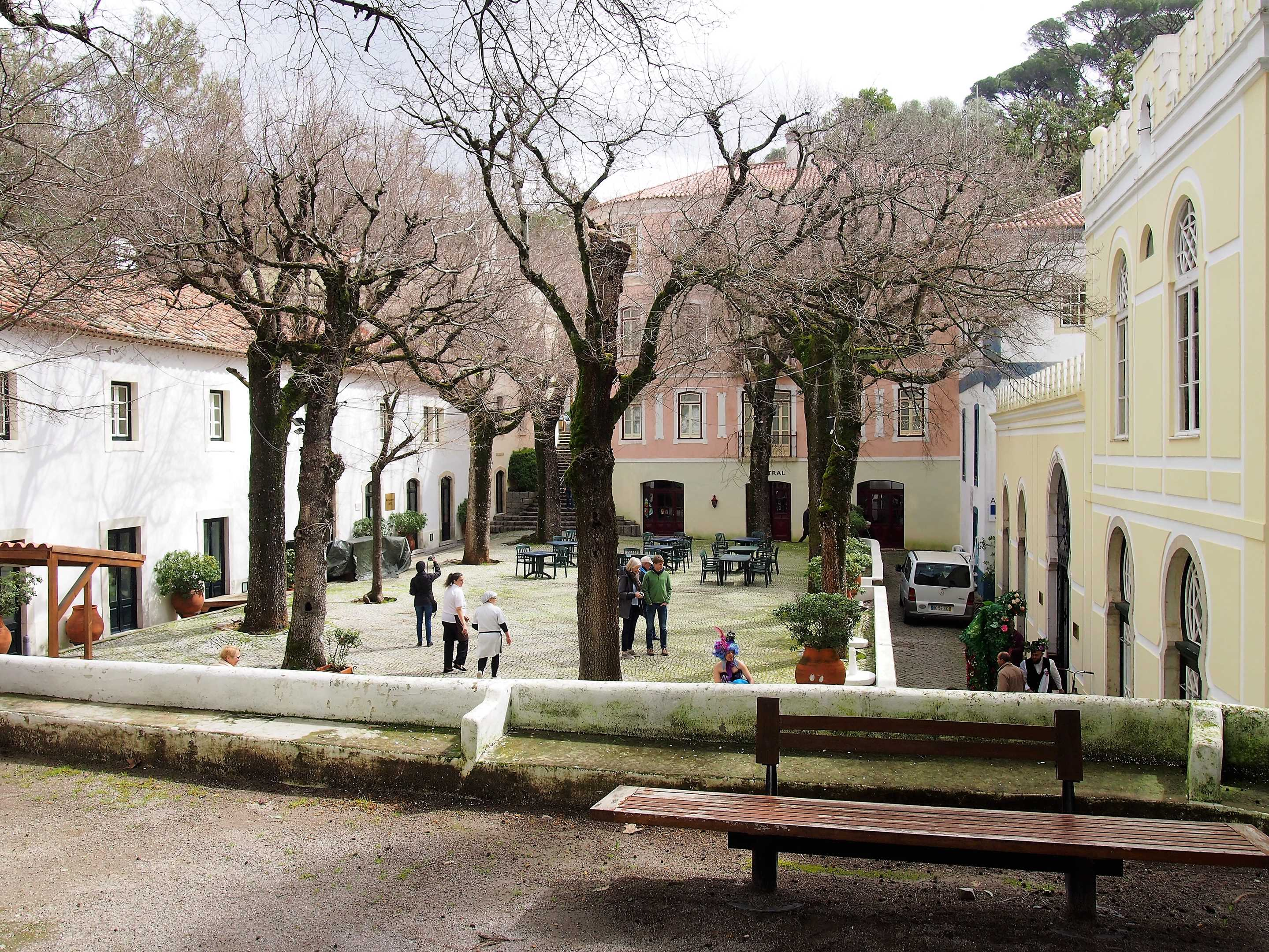 The main square at Caldas de Monchique