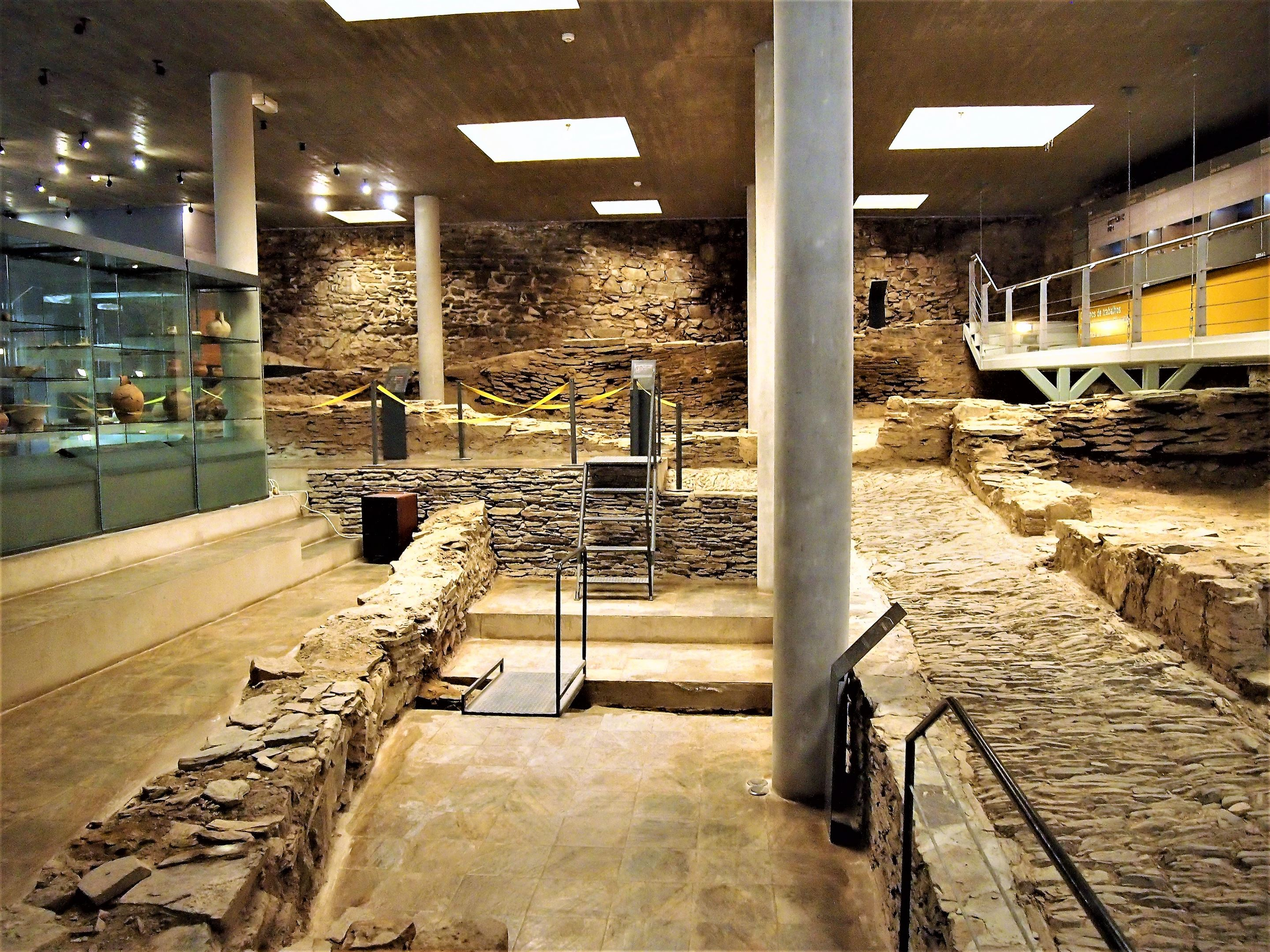 Inside the Archaeological Museum at Alcoutim Castle