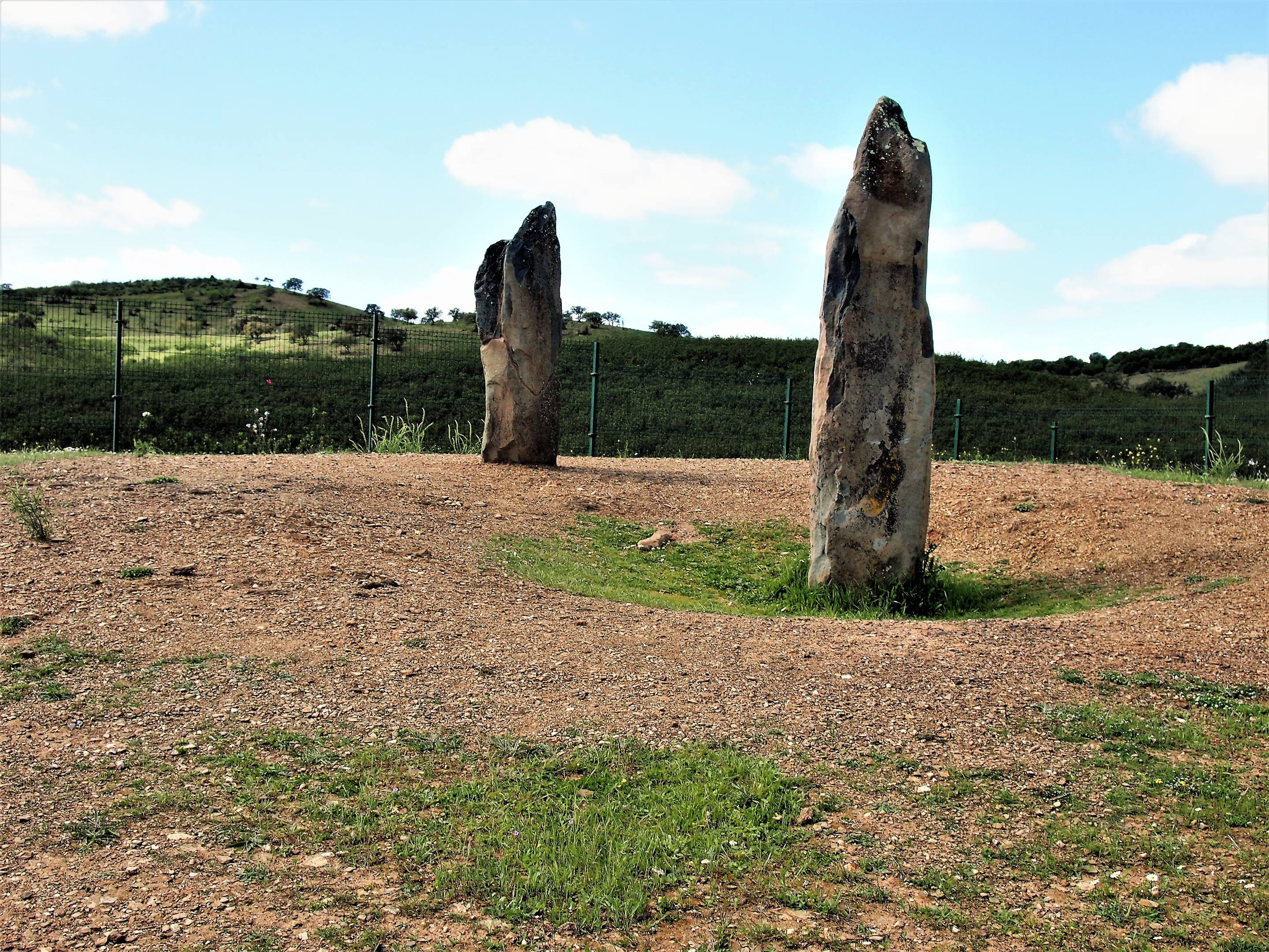 The menhirs of Lavajo - a short drive from Alcoutim, but only accessible by following a gravel track for 3km. Dated somewhere between 2800 BC and 3500 BC.