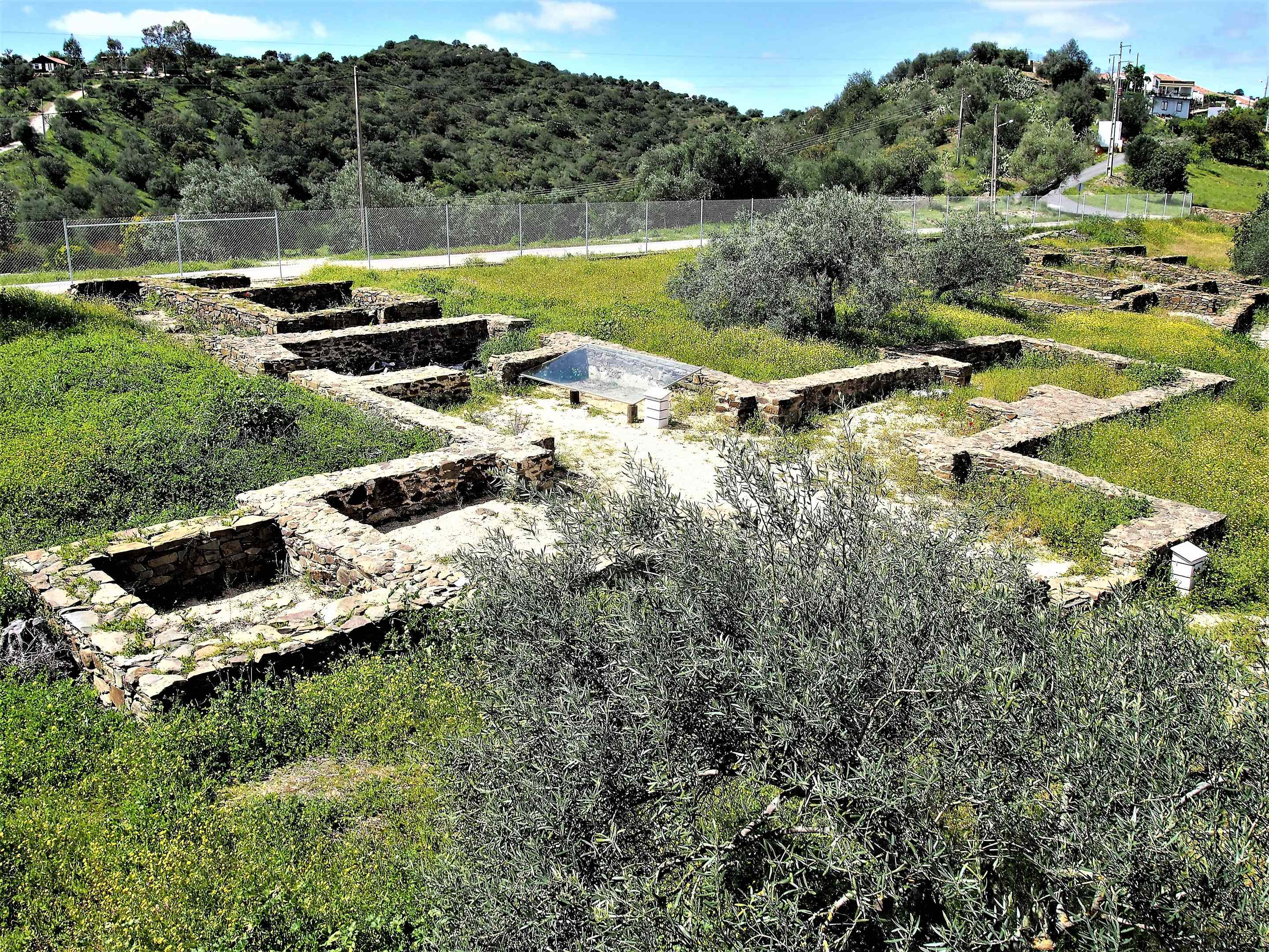 The remains of Vila Romana da Montinho das Larajeiras, near Alcoutim