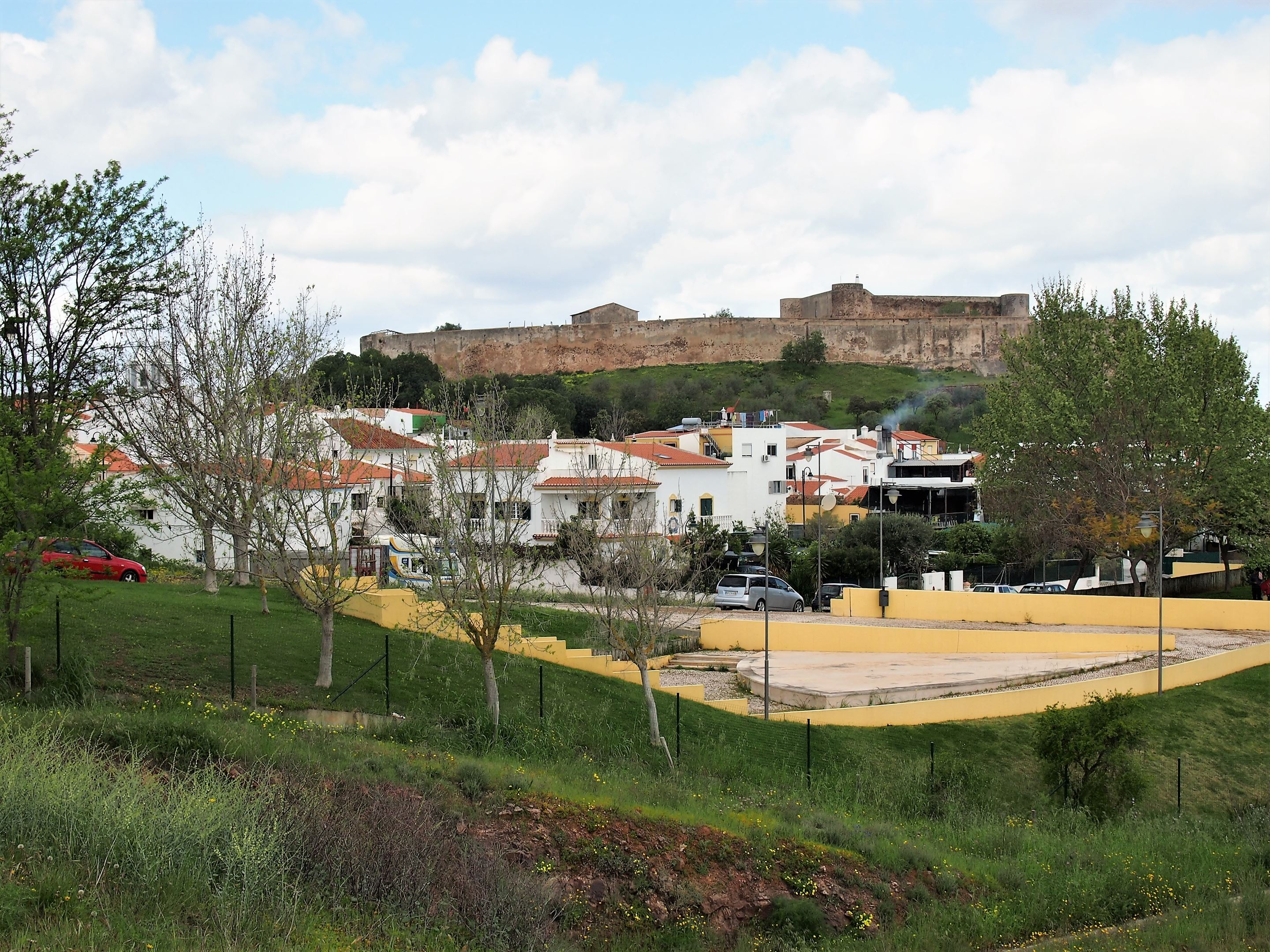 The Fort of São Sebastião with the town of Castro Marim below.