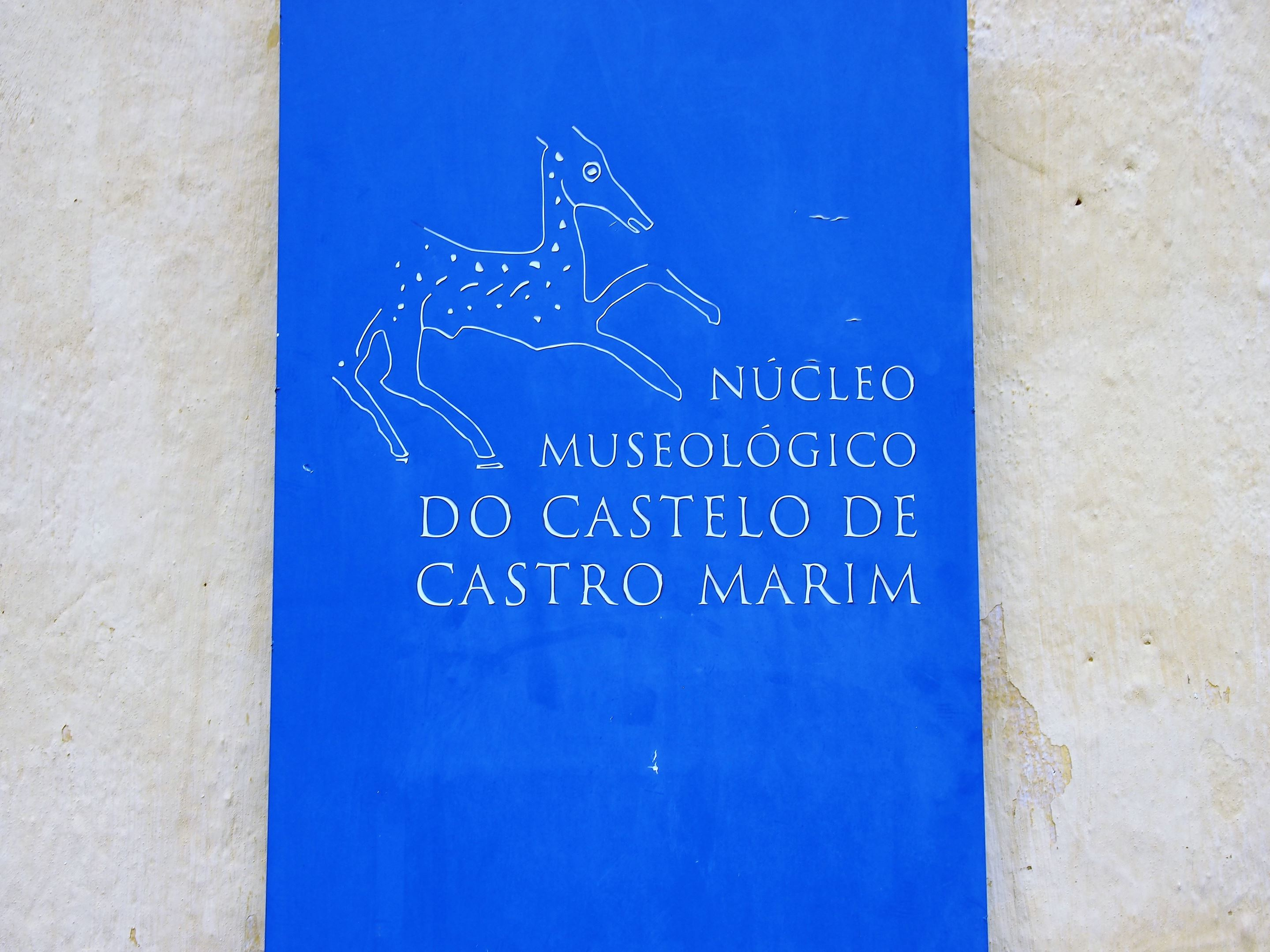 The archaeological museum inside the Castro Marim castle.