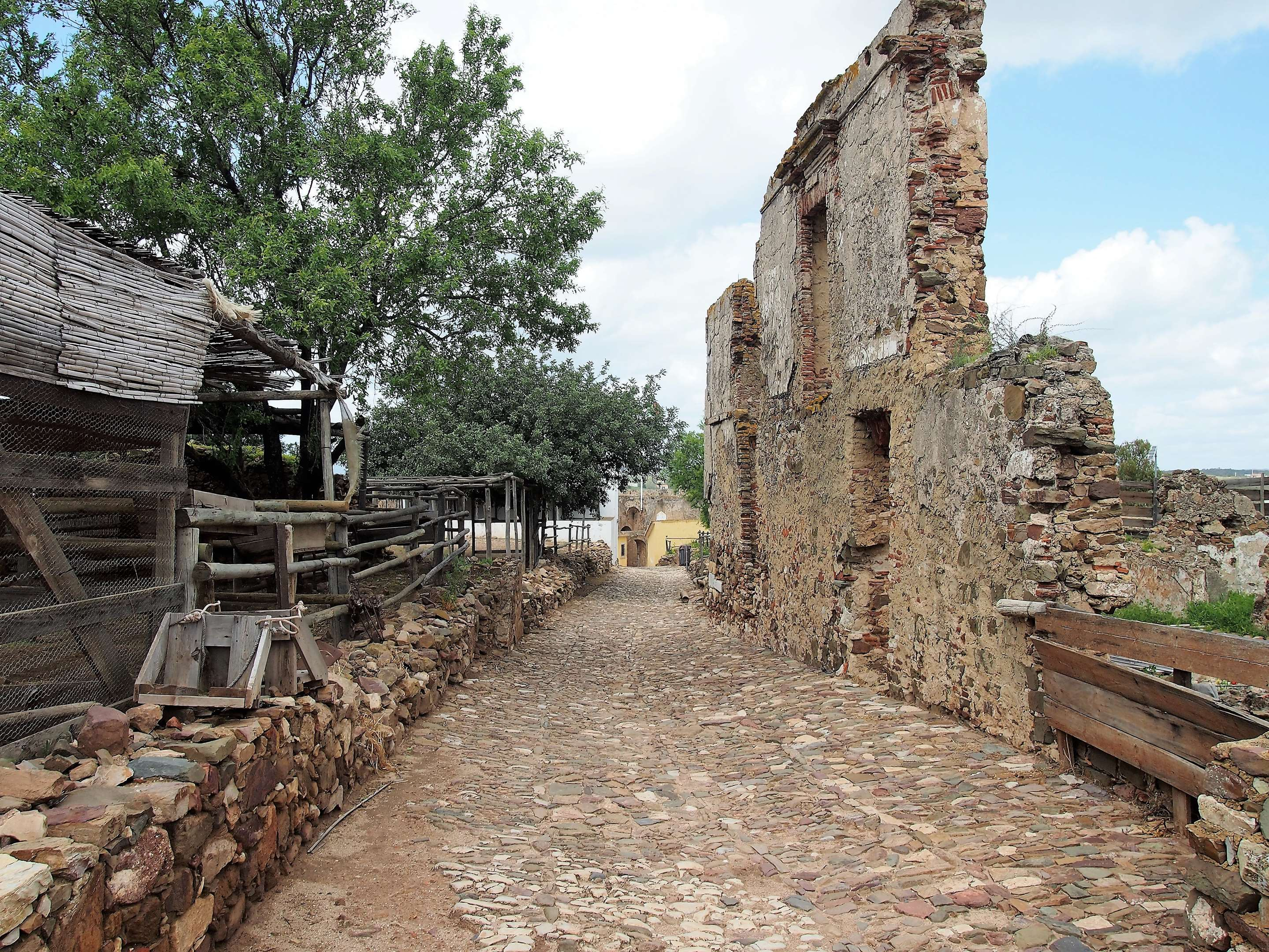 The remains of a road within the Castro Marim castle.
