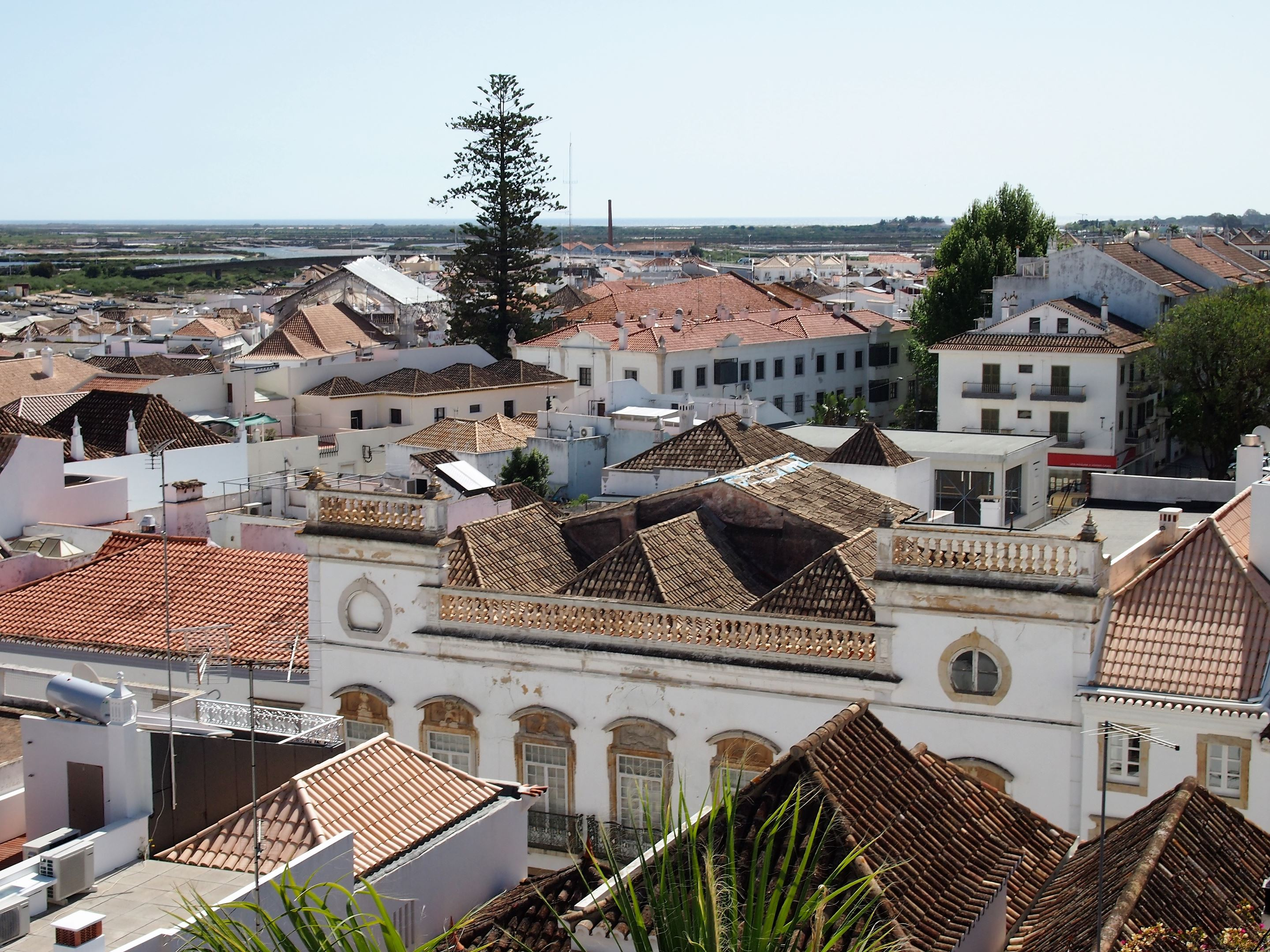 From Tavira Castle, views of Tavira towards the sea