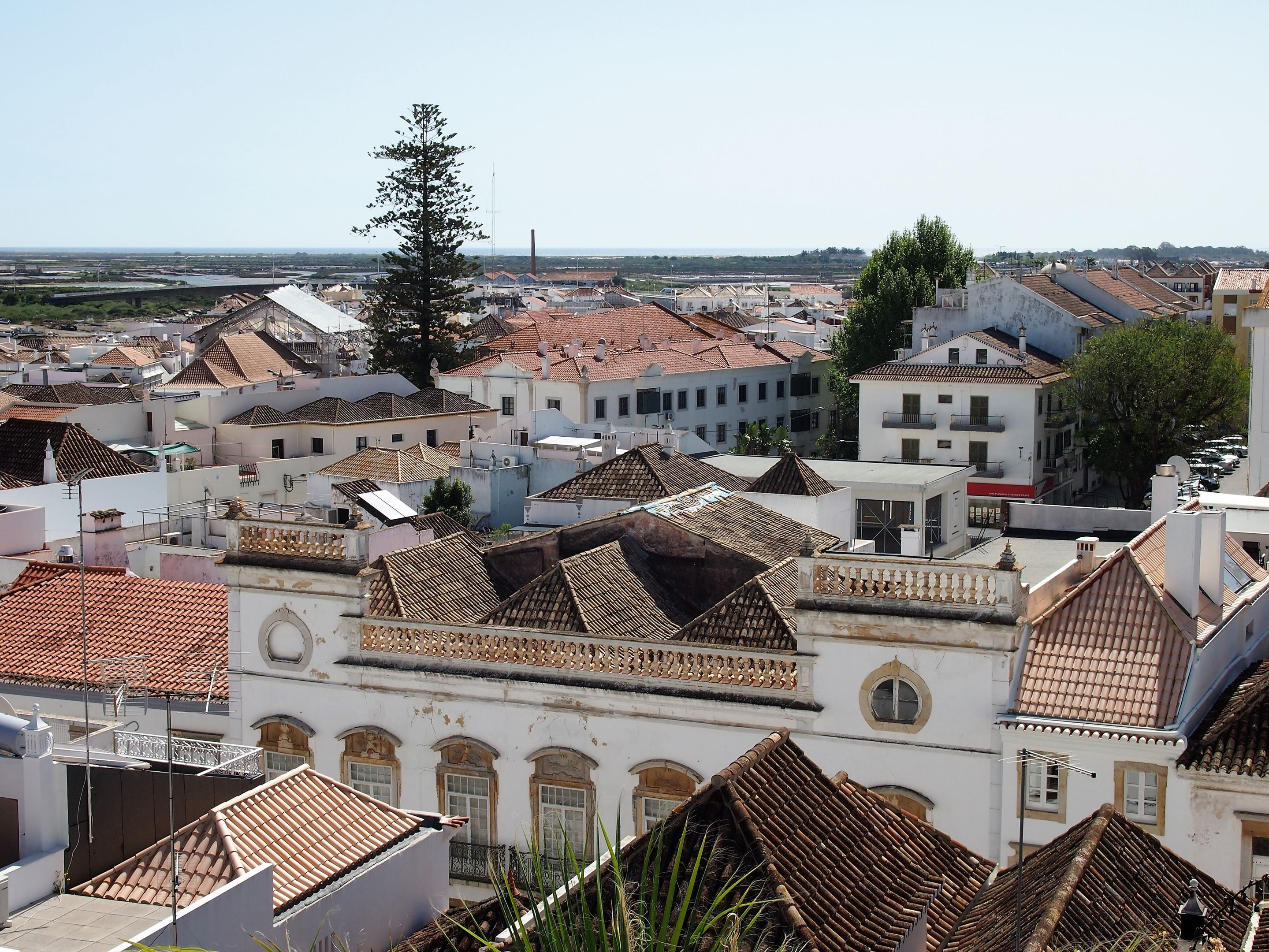 View of Tavira towards the Ria Formosa and the Atlantic Ocean