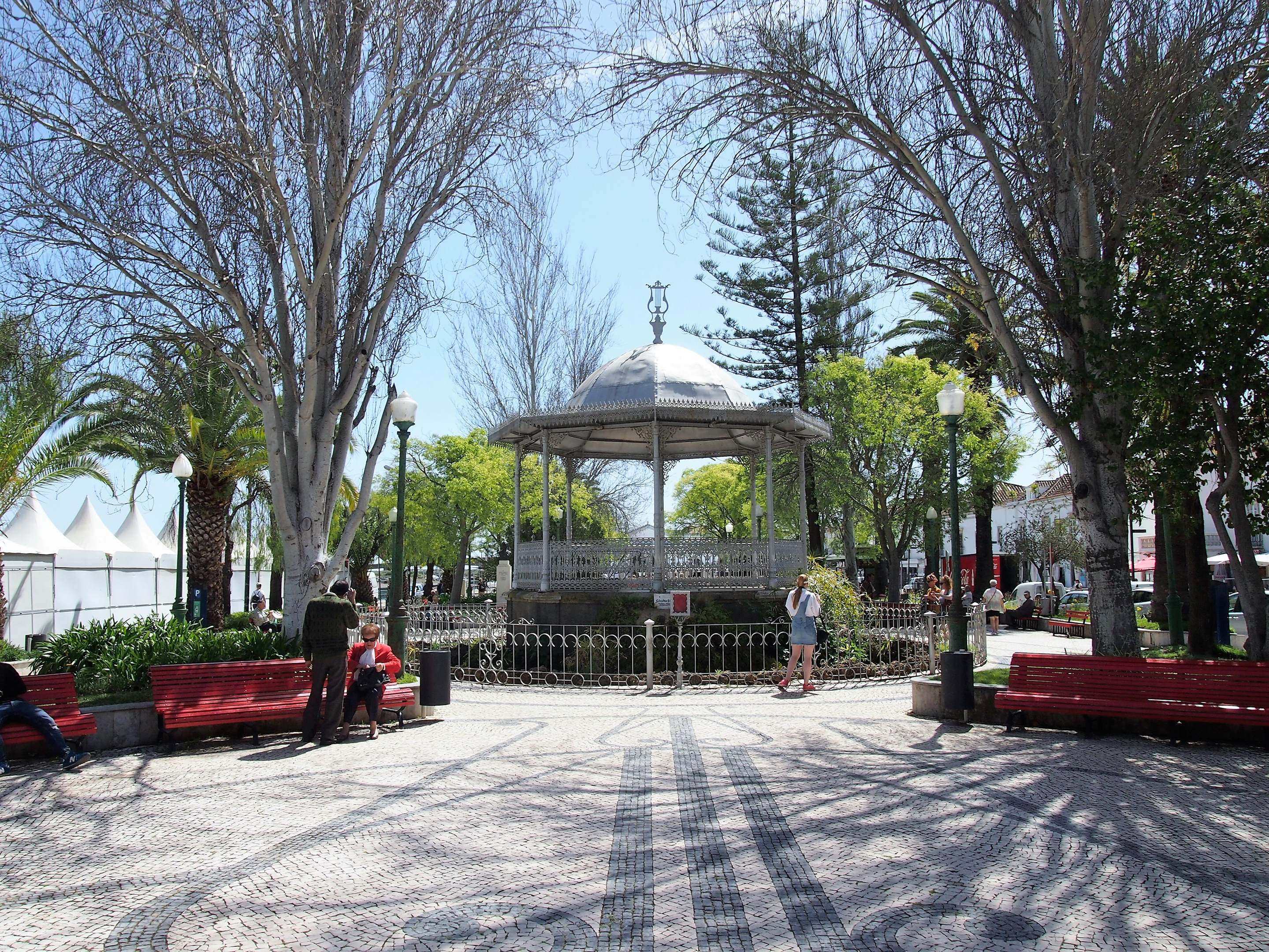 Bandstand and gardens close to the Mercado da Ribeira, Tavira