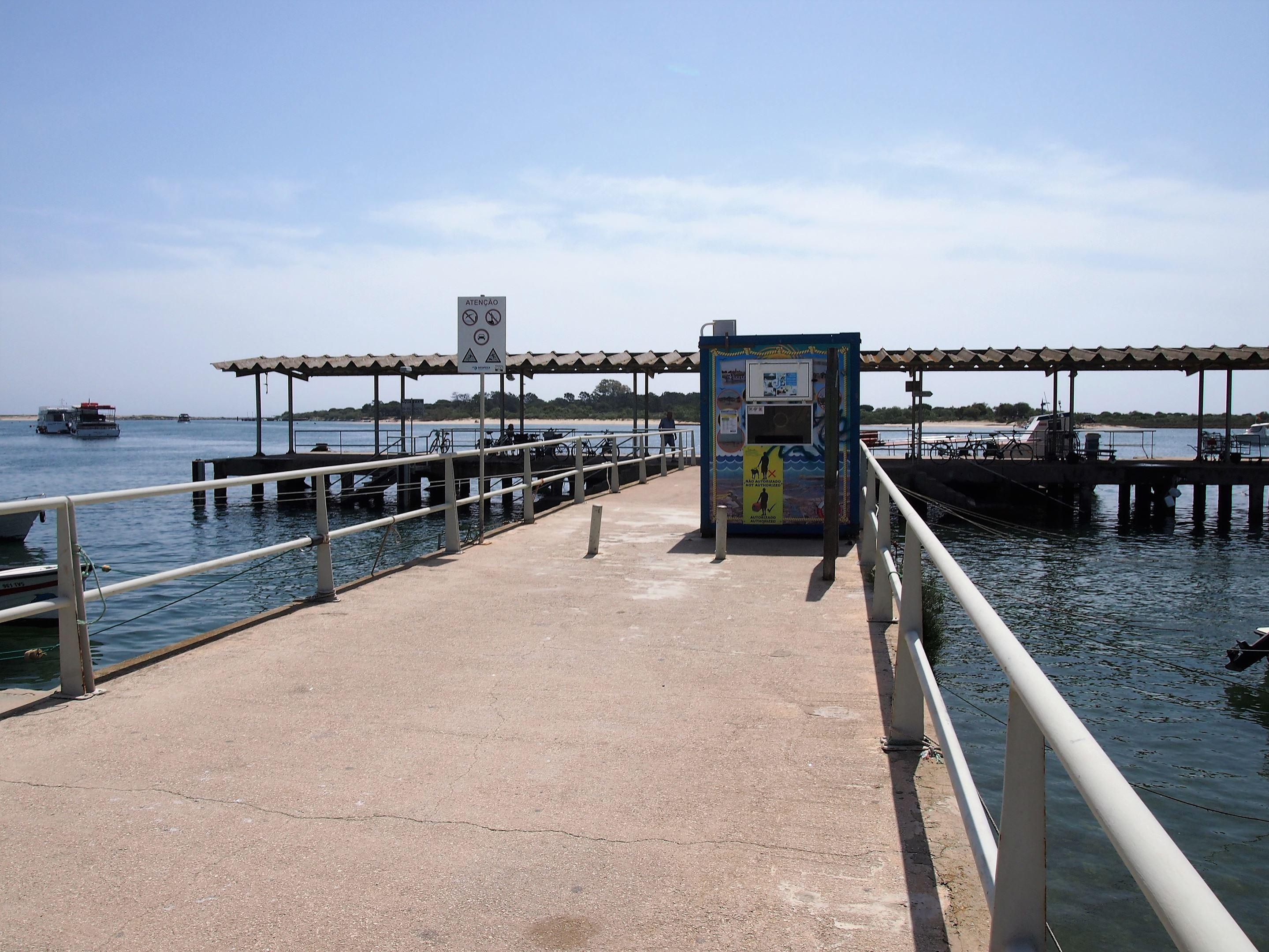 The jetty at Cais das Quatro Águas which provides the shortest route to Ilha de Tavira