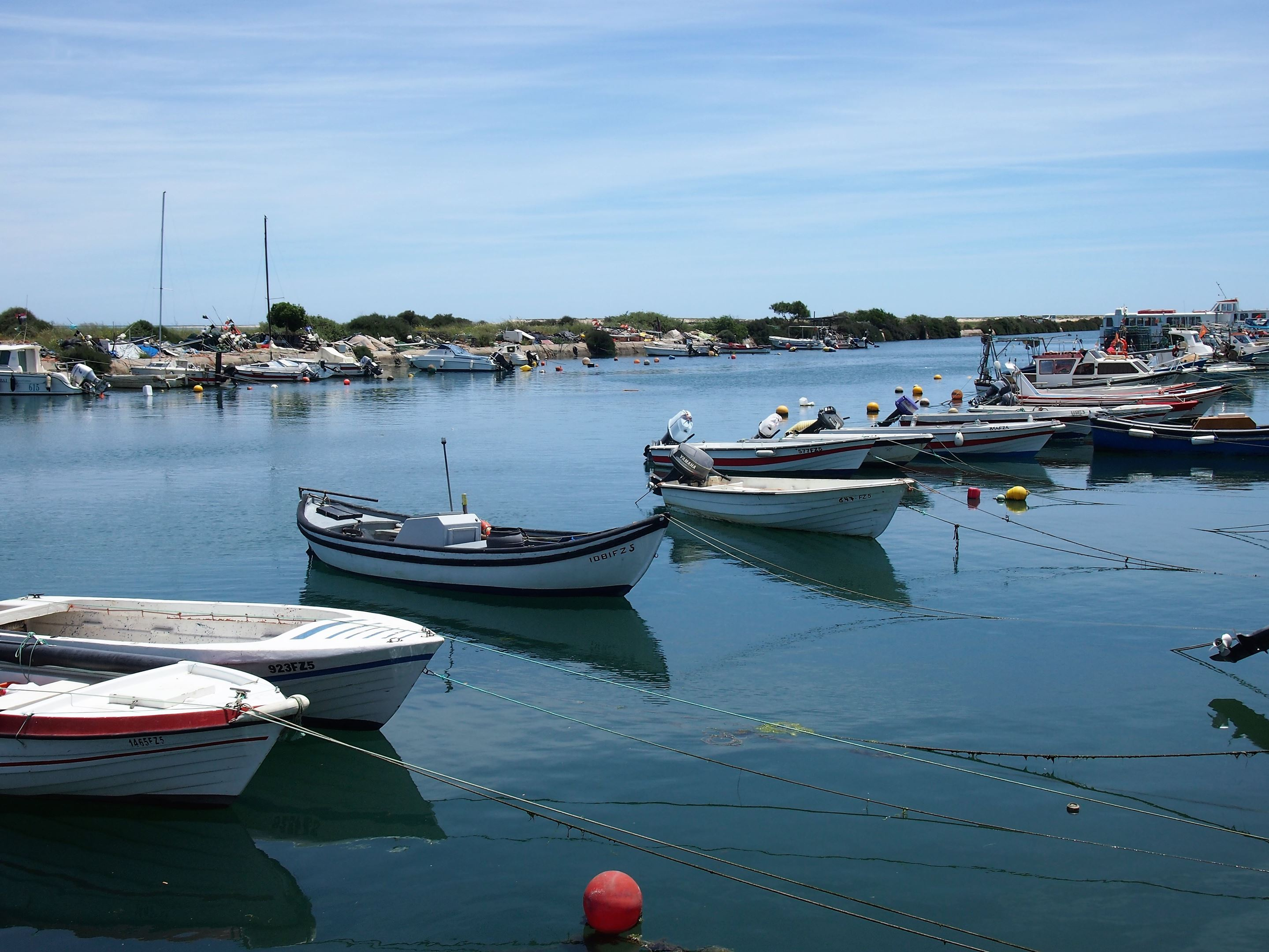 The small harbour at Fuseta, Algarve