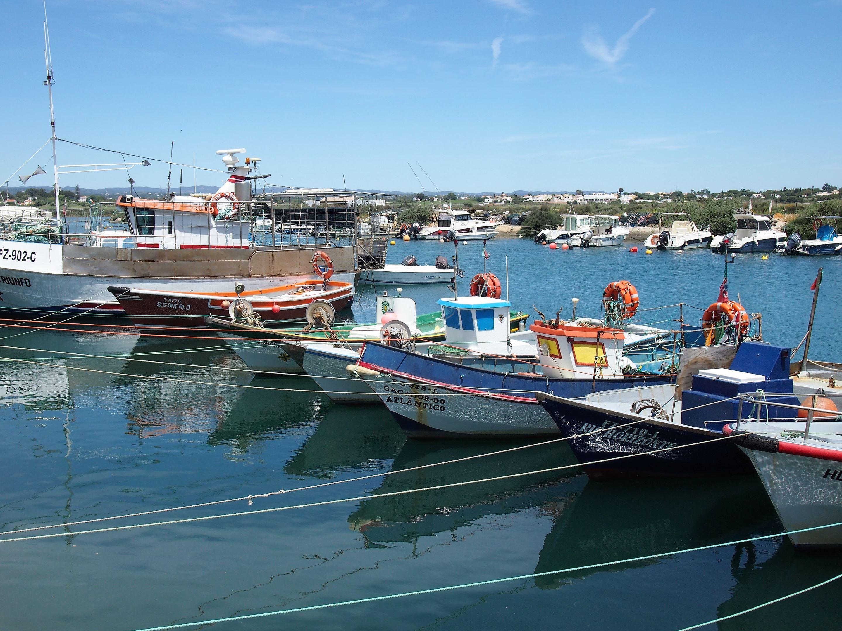 Barcos de pesca, Fuseta, Algarve