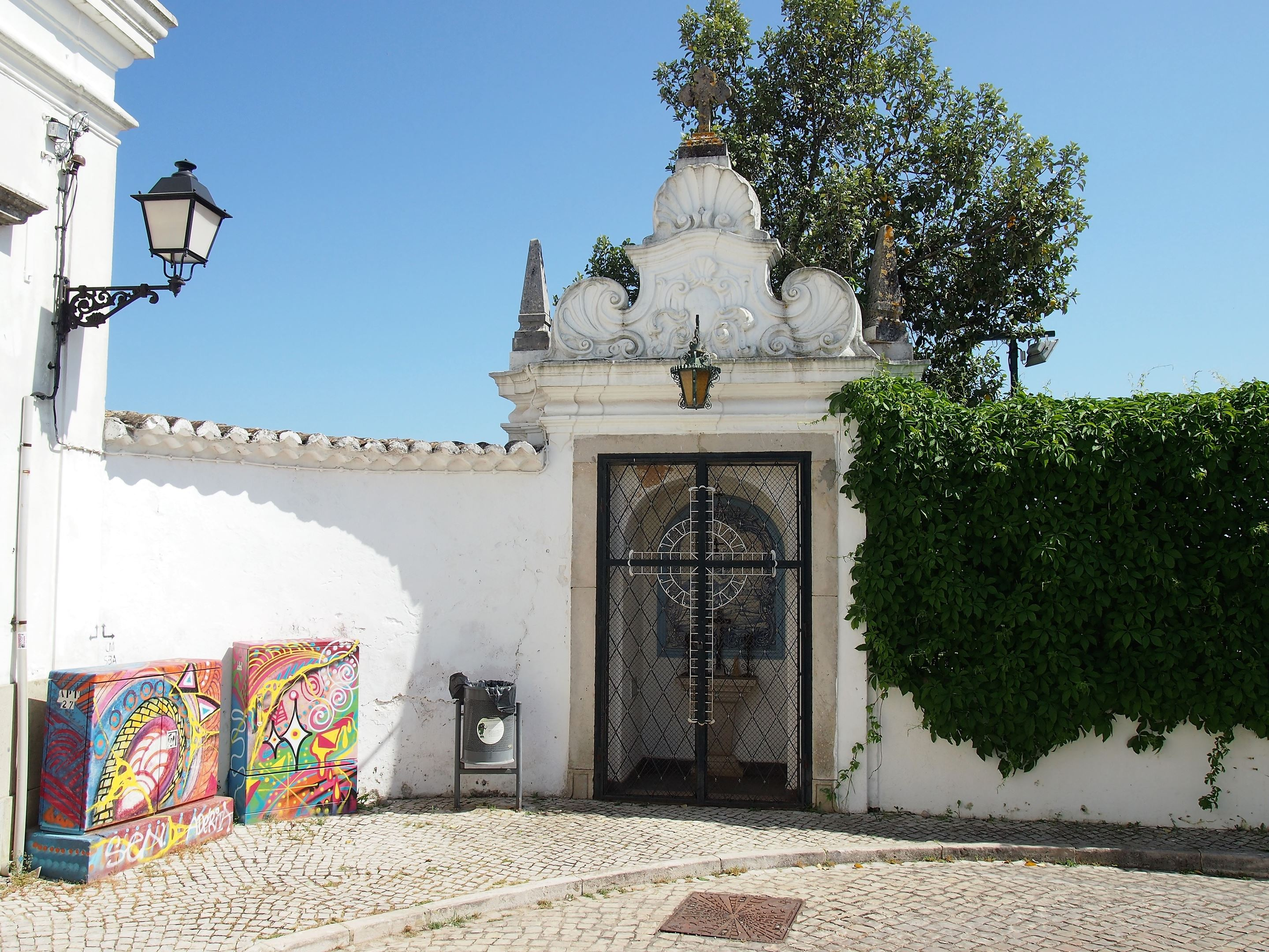 At the entrance to the Jardim da Verbena, São Brás de Alportel. This garden is all that remains of a former palace where the bishops of the Algarve would stay in the summer.