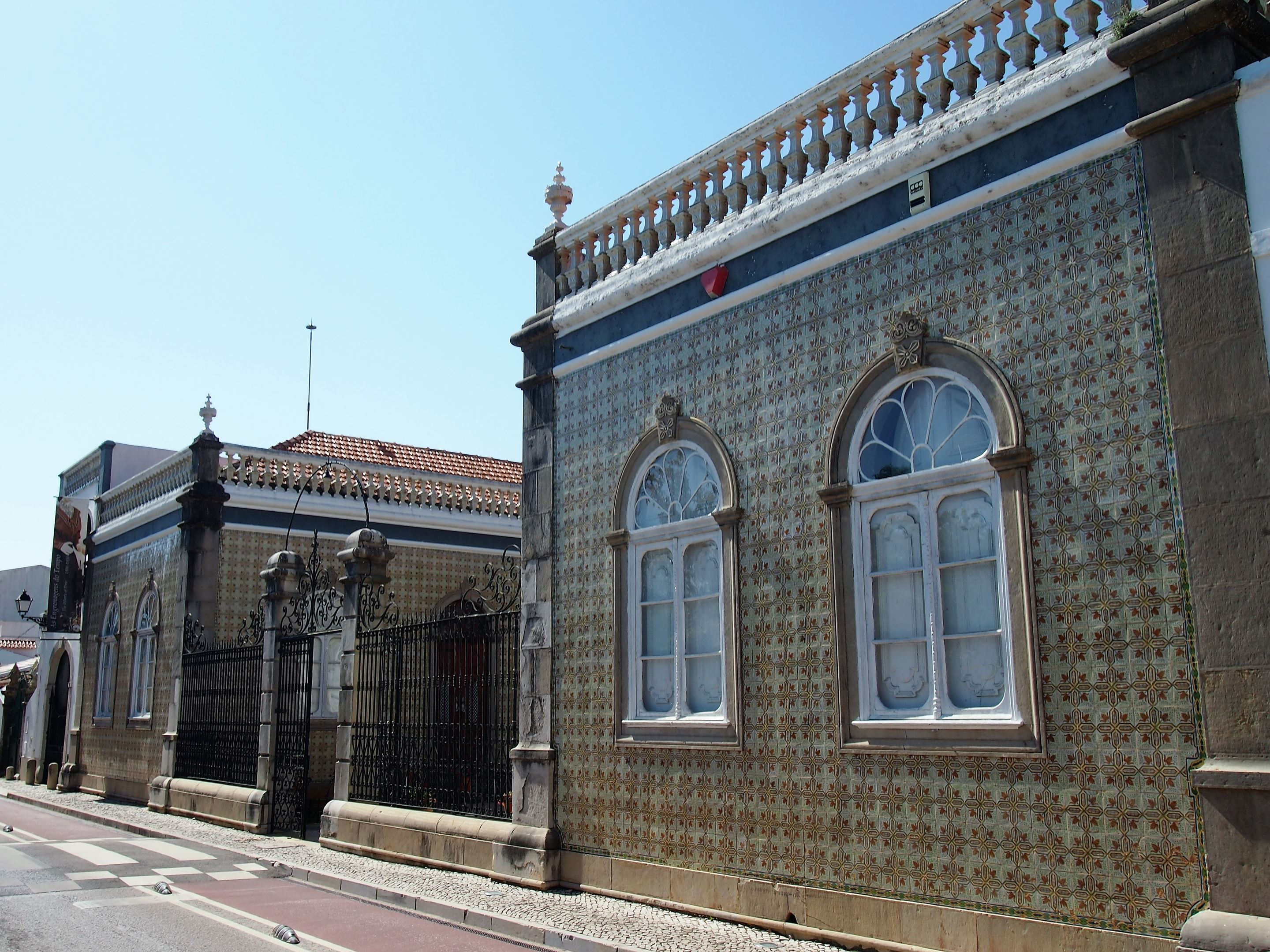 The ornate building which houses the Algarve Costume Museum in São Brás de Alportel