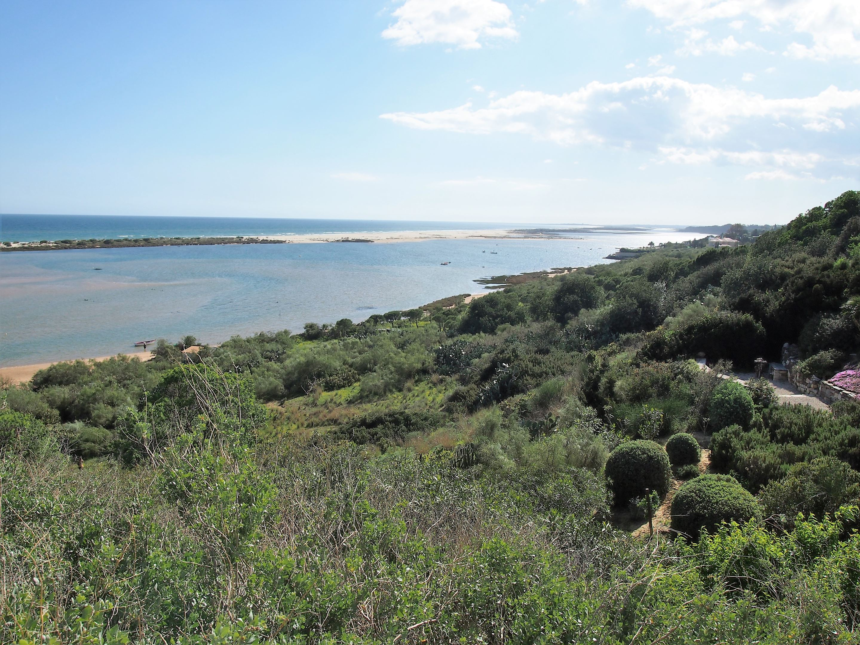 Views from Cacela Velha over the Ria Formosa looking west