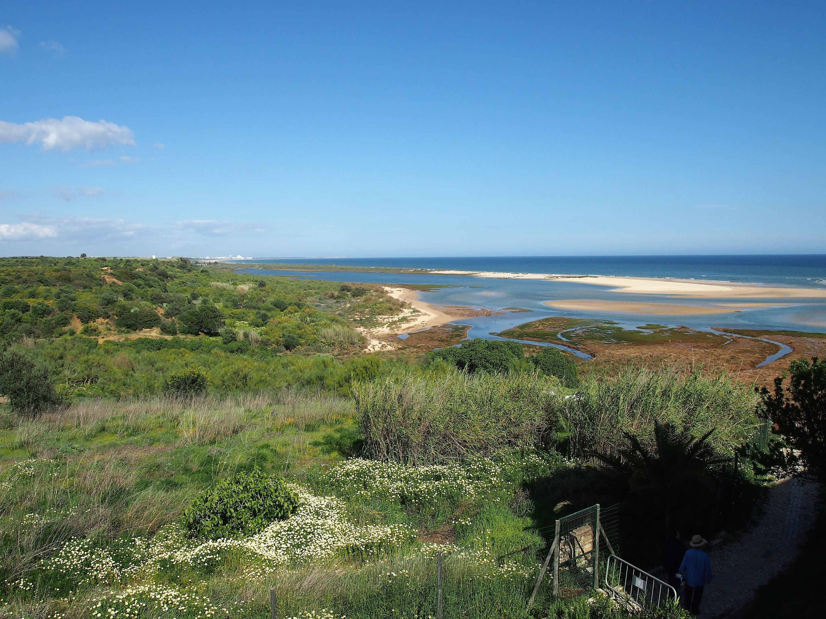 Looking east towards Monte Gordo from Cacela Velha, Algarve