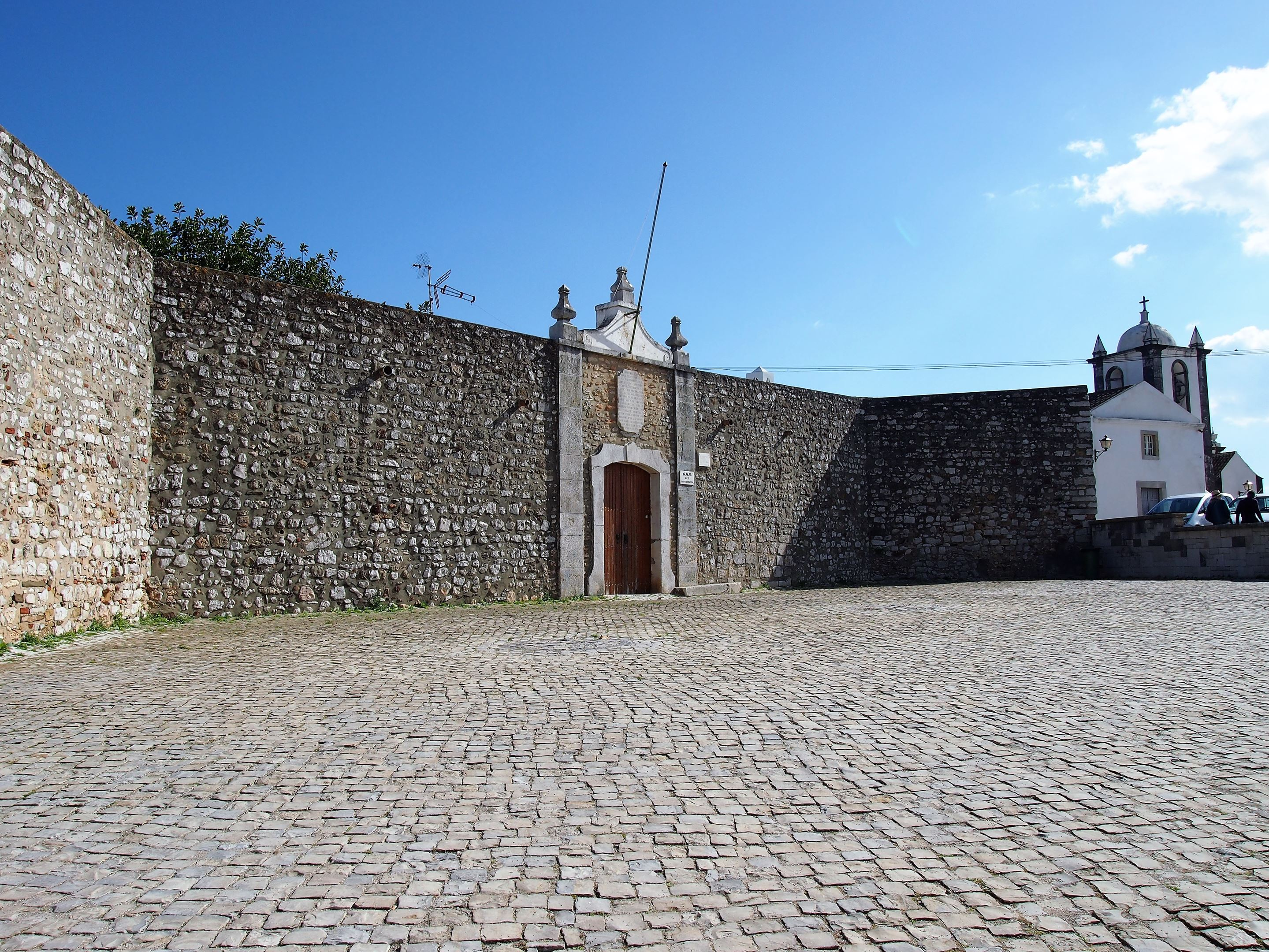 Fortaleza de Cacela, the fort at Cacela Velha. Unfortunately closed as it provides office for the GNR (lucky them!)