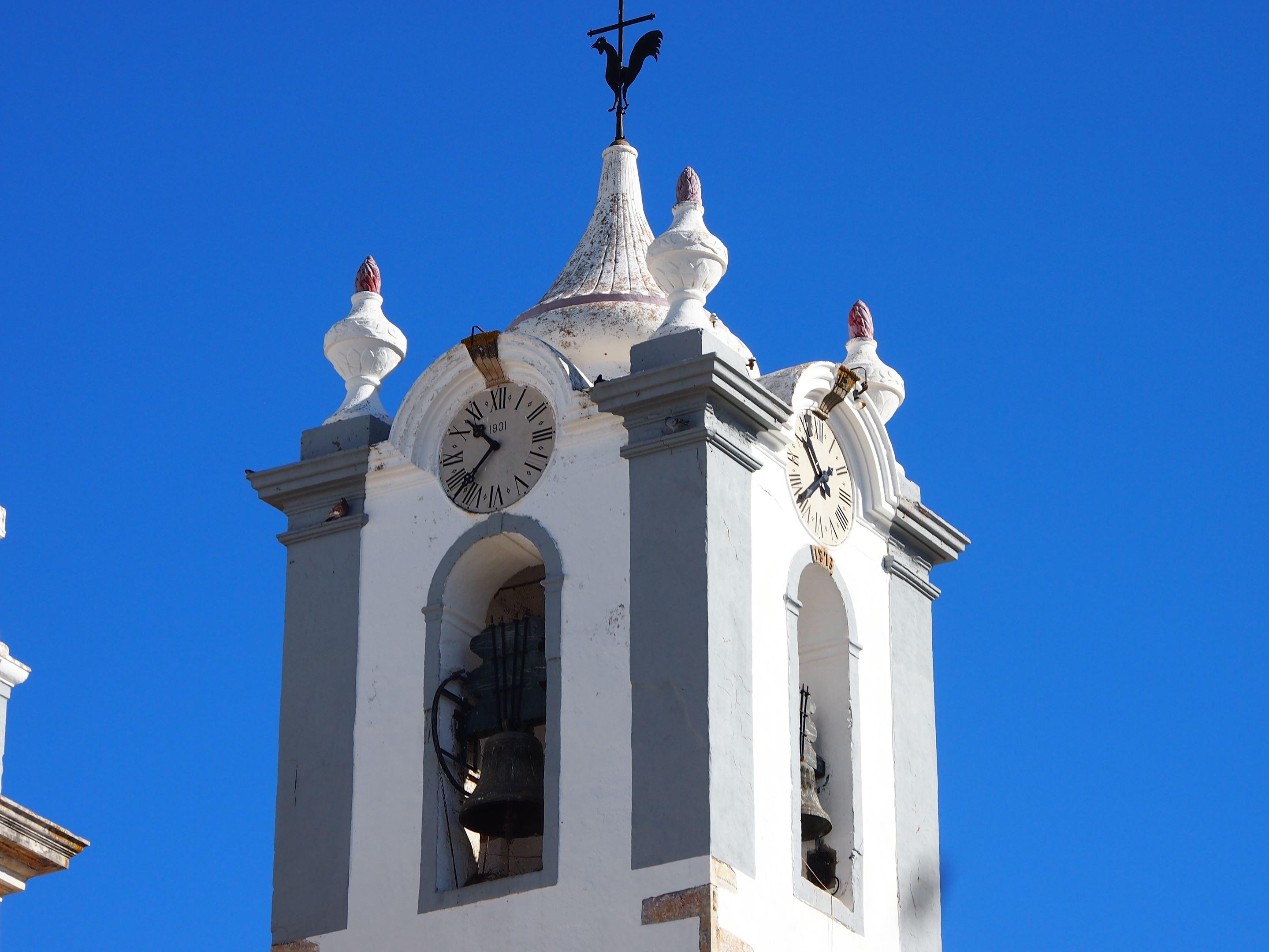 Estoi church - Igreja Matriz de Estoi clocktower, Algarve
