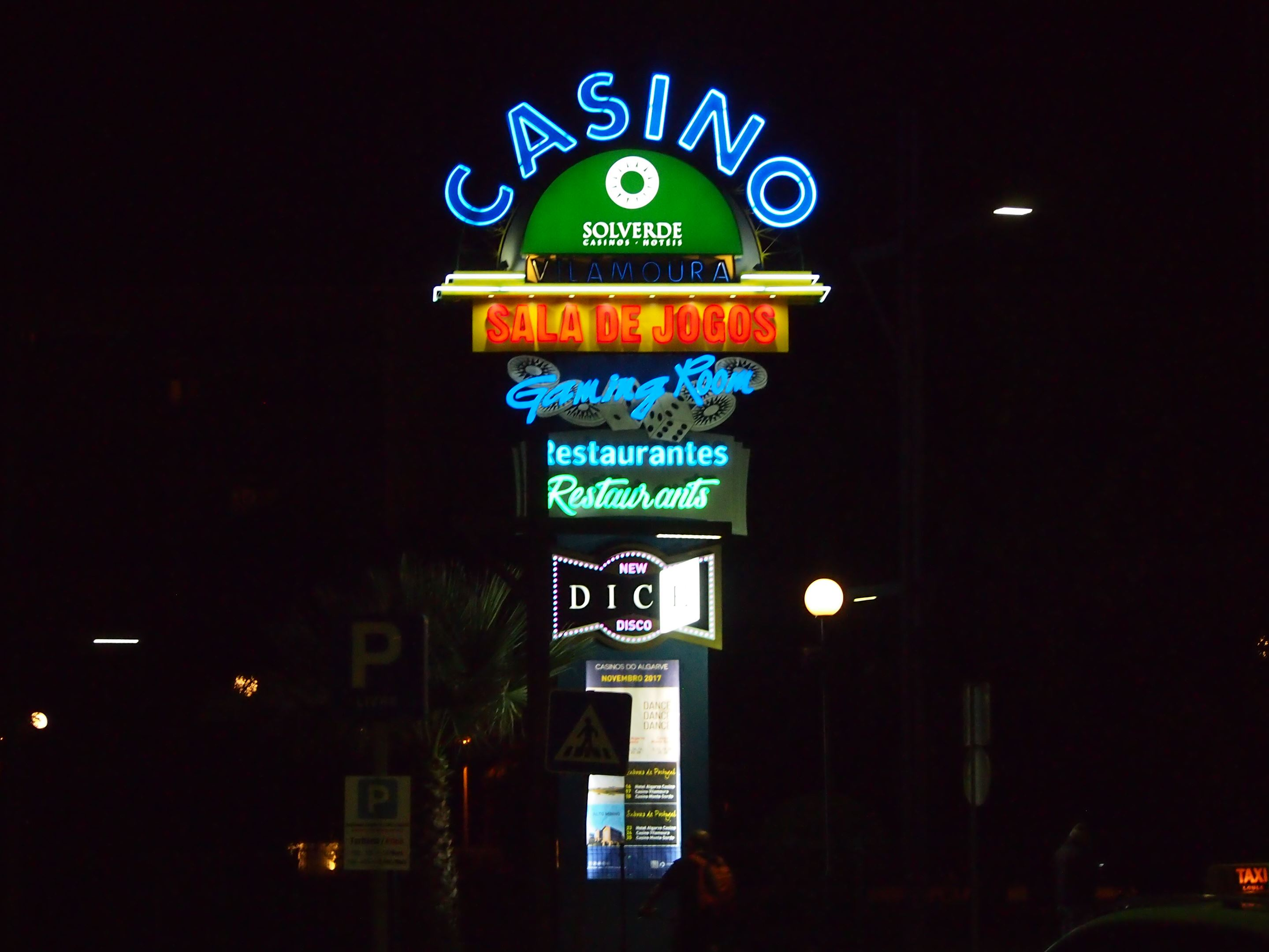 The entrance to the casino in Vilamoura