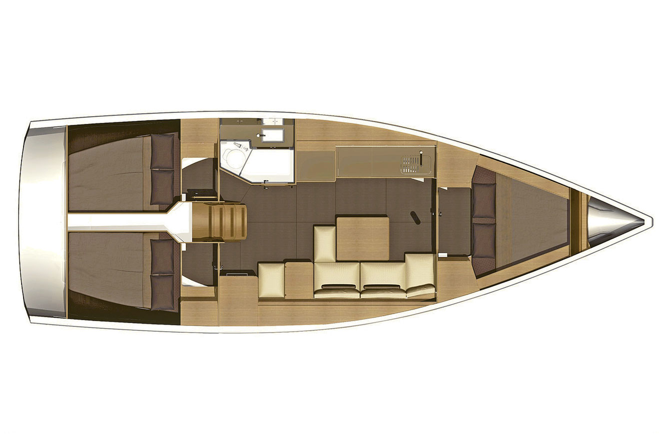 Dufour Grand Large 382 Layout
