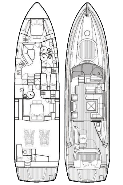 Sunseeker Predator 72 Layout