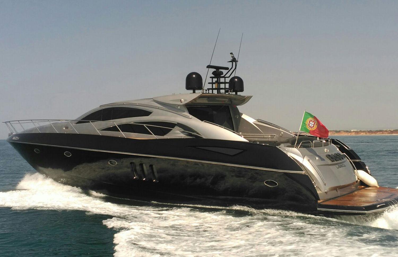 Sunseeker Predator 72 is the largest luxury yacht charter in Algarve