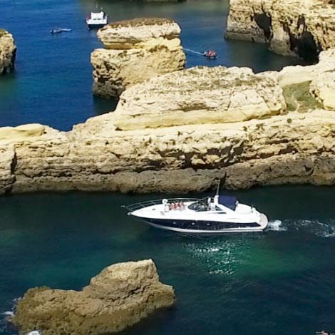 Sunseeker croisière avec nuit sur le yacht en Algarve