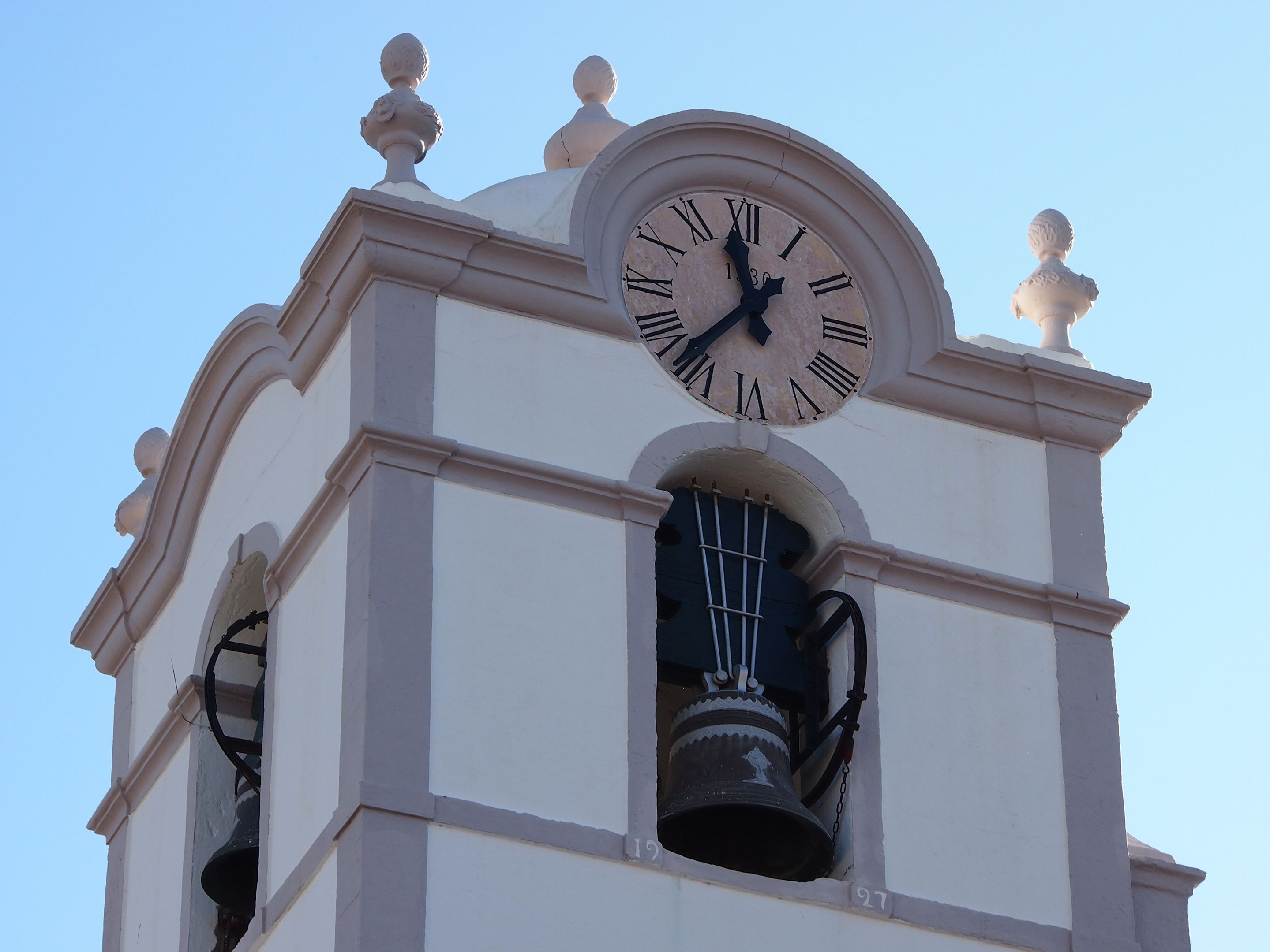 The church clocktower, ​São​ ​Lourenço​ ​near ​Almancil, Portugal