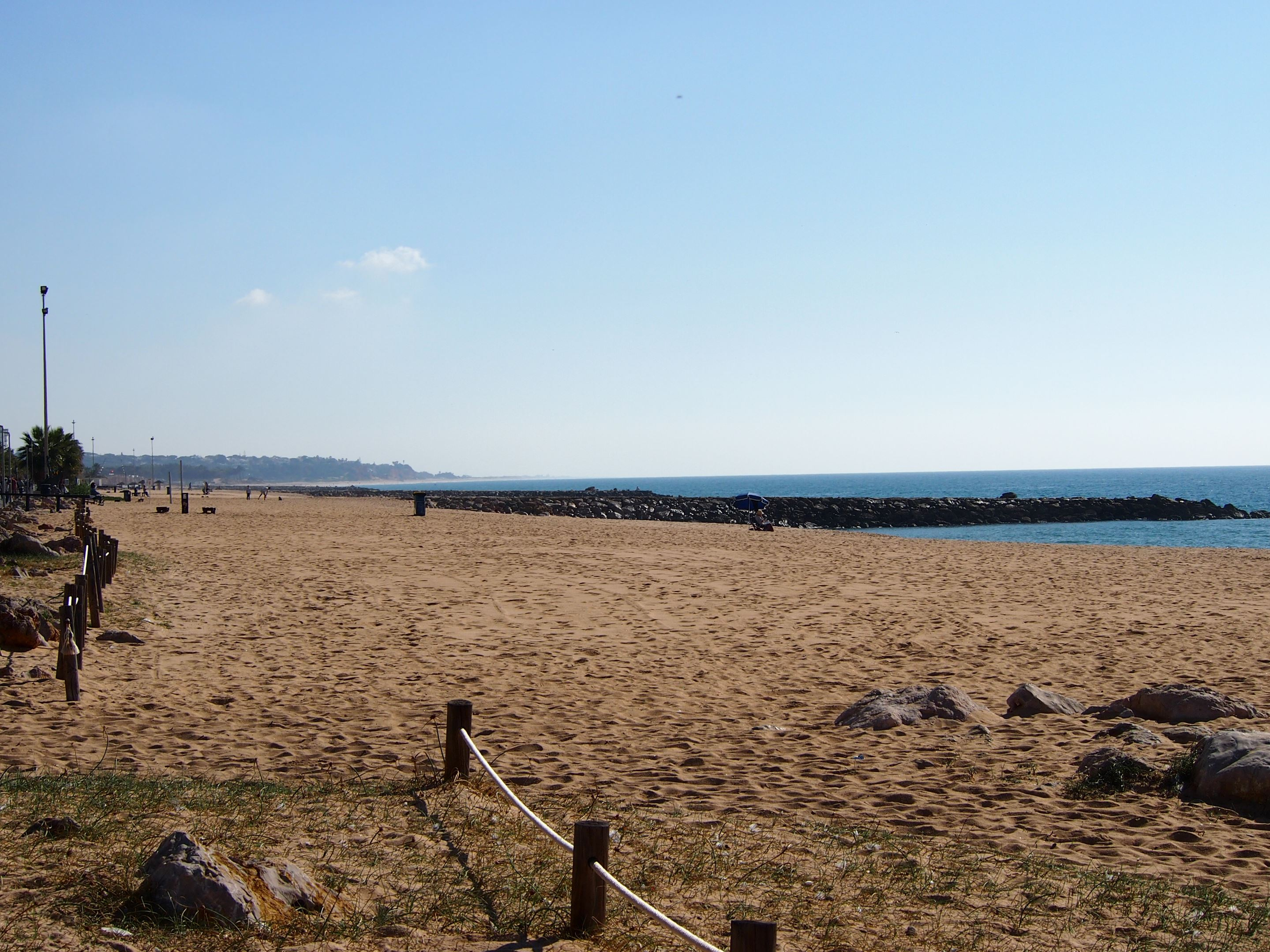 Praia de Quarteira, looking east towards Vale do Lobo