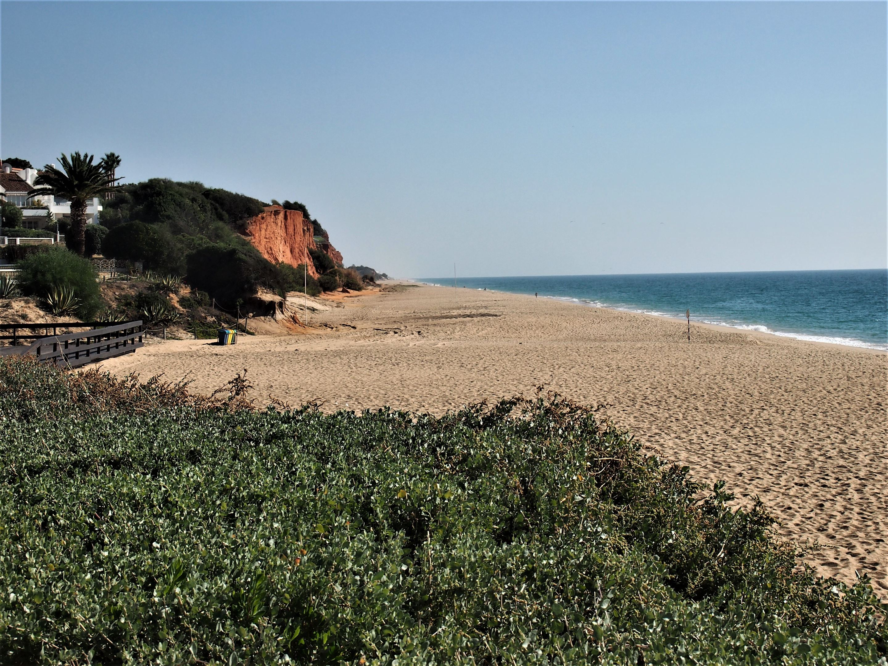 The red cliffs at Praia de Vale do Lobo, Algarve